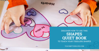 Discover how to use this shapes quiet book to teach toddlers shapes
