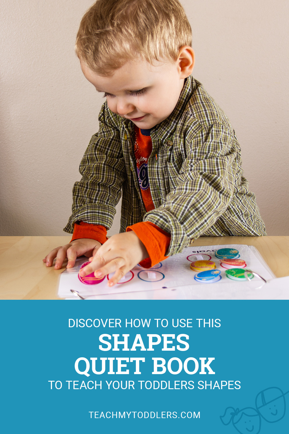 Discover how to use this shapes quiet book to teach your toddlers shapes