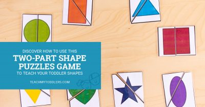 Discover how to use this two-part shape puzzles game to teach toddler shapes