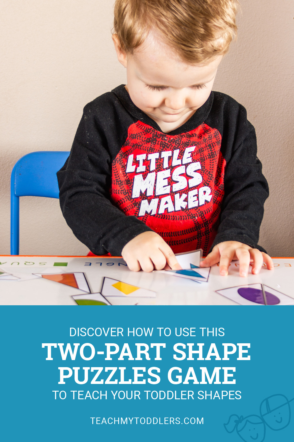 Shape Games for Toddlers – Two-Part Shape Puzzles – Teach My