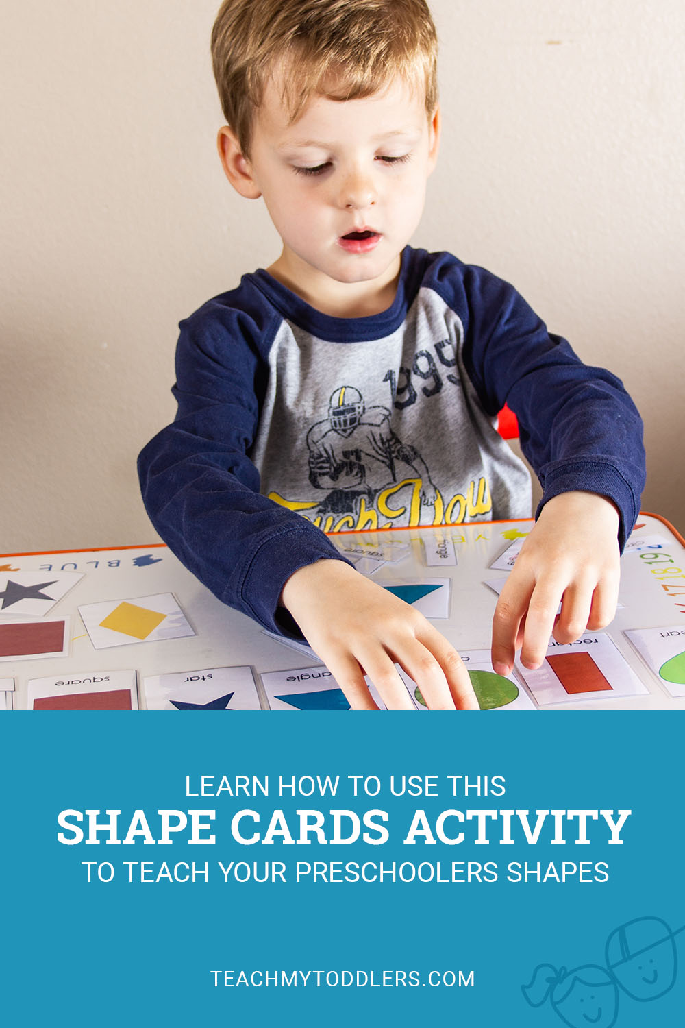 Learn how to use this shape cards activity to teach preschoolers shapes