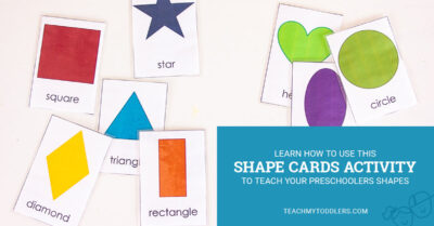 Learn how to use this shape cards activity to teach your preschoolers shapes