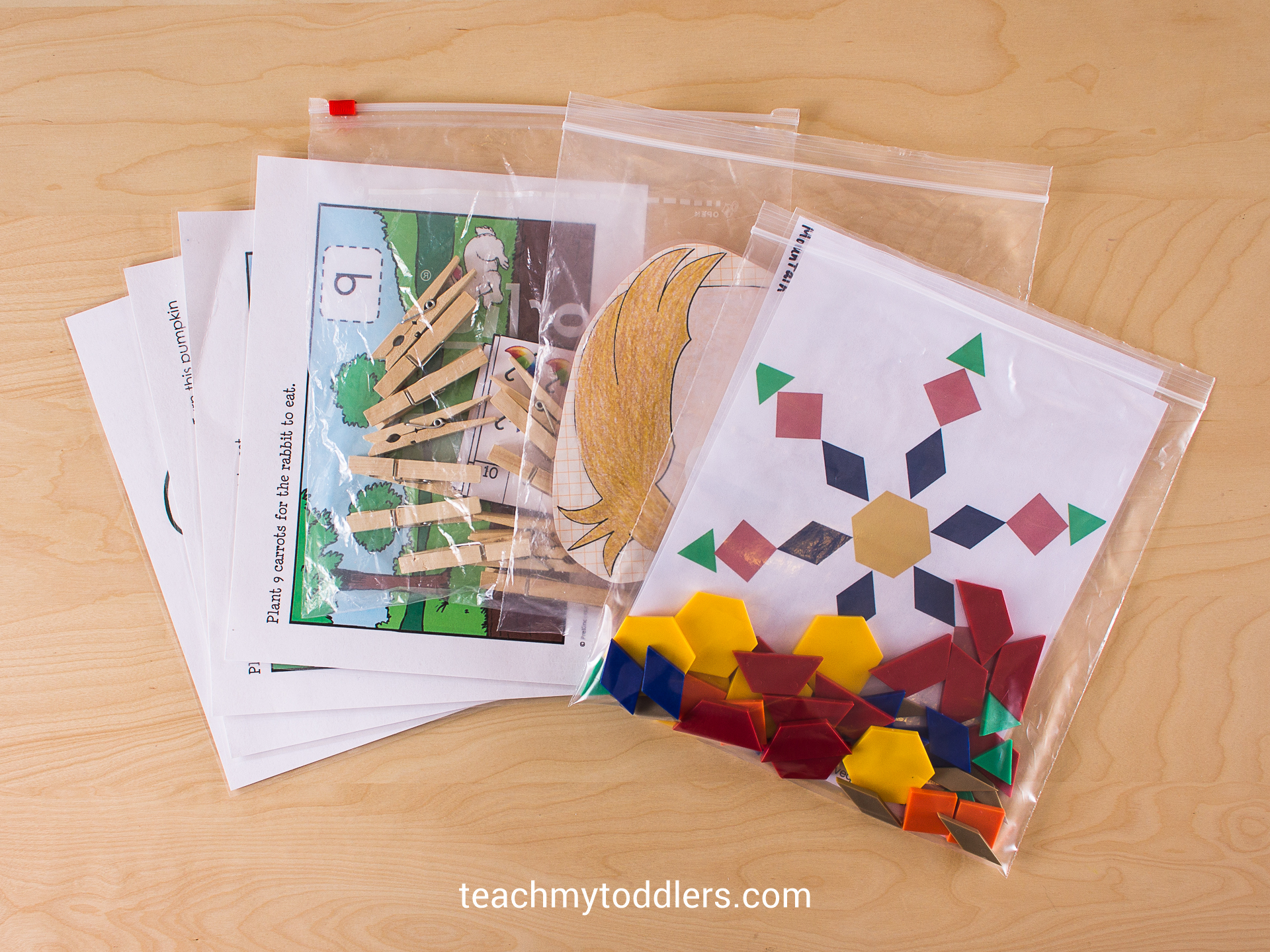 Pattern blocks and other activites for your toddler during General Conference