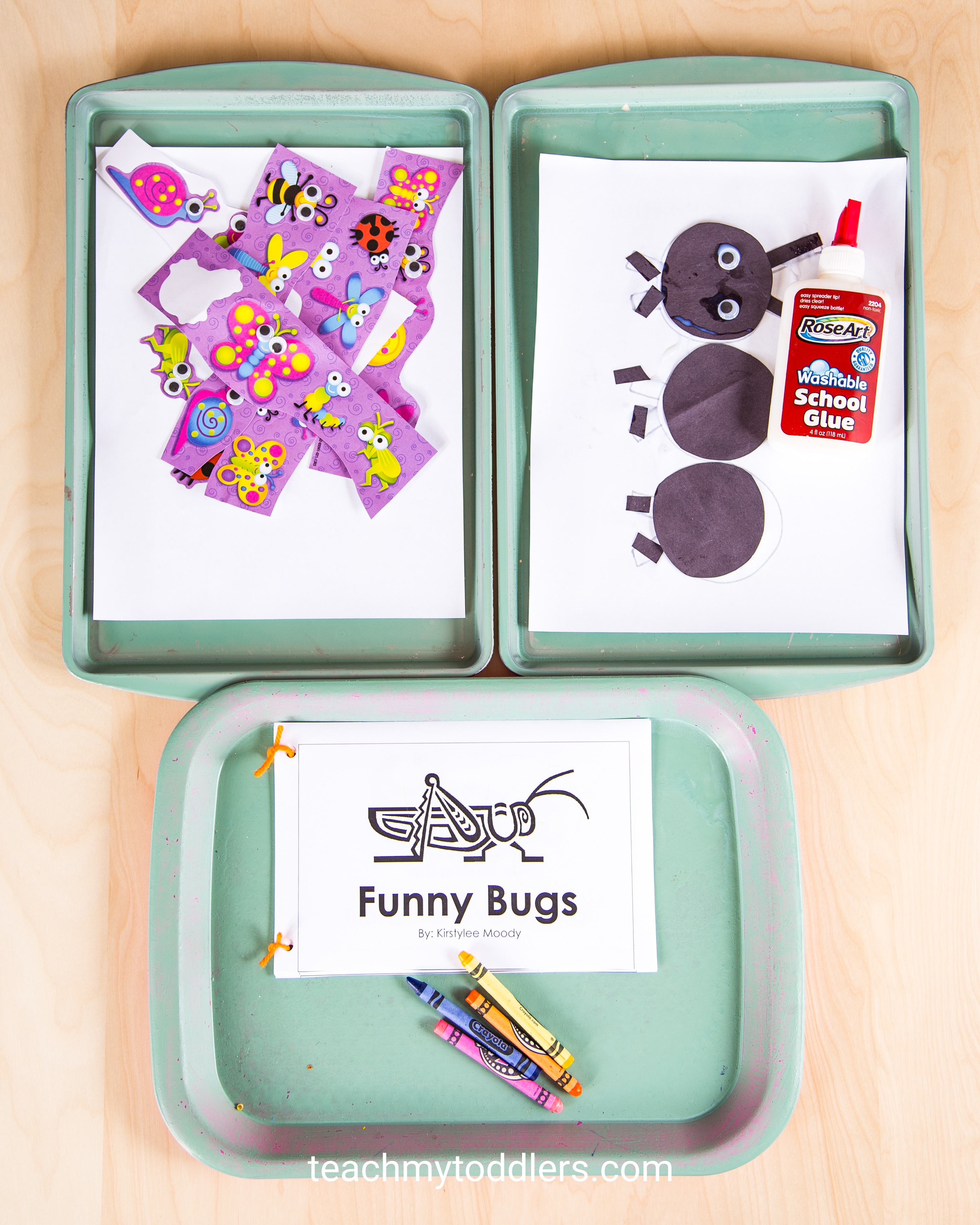 Discover how to use these bug trays to teach toddlers about bugs
