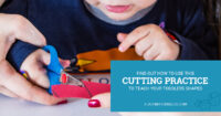 Find out how to use this cutting practice to teach toddlers shapes