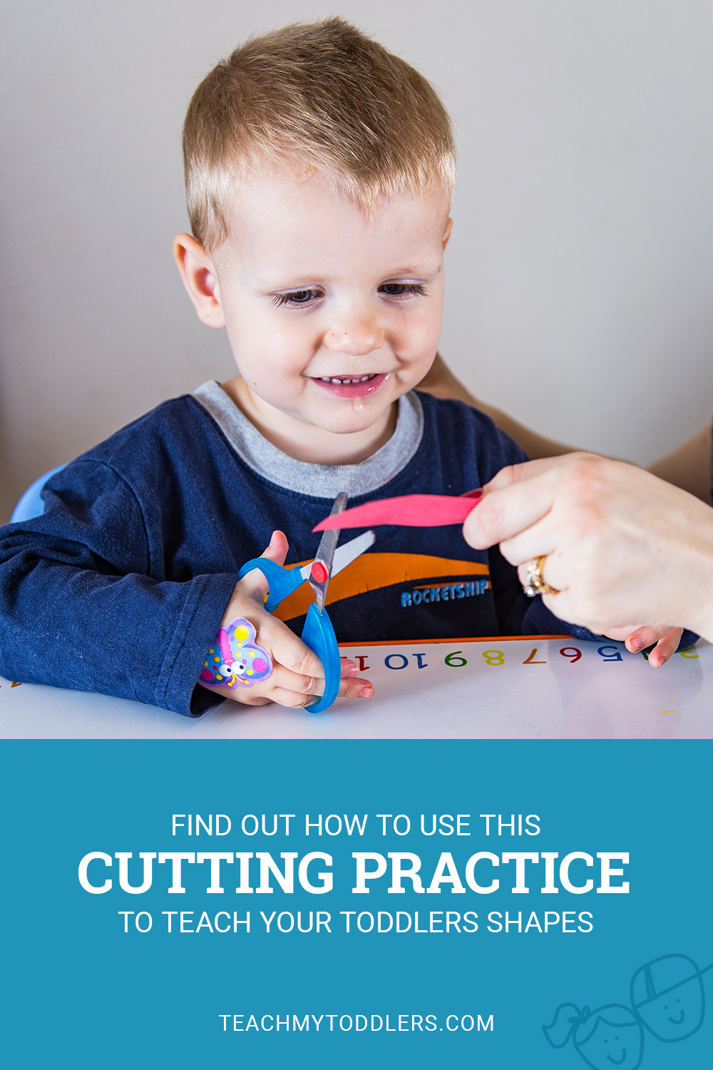Find out how to use this cutting practice to teach your toddlers shapes