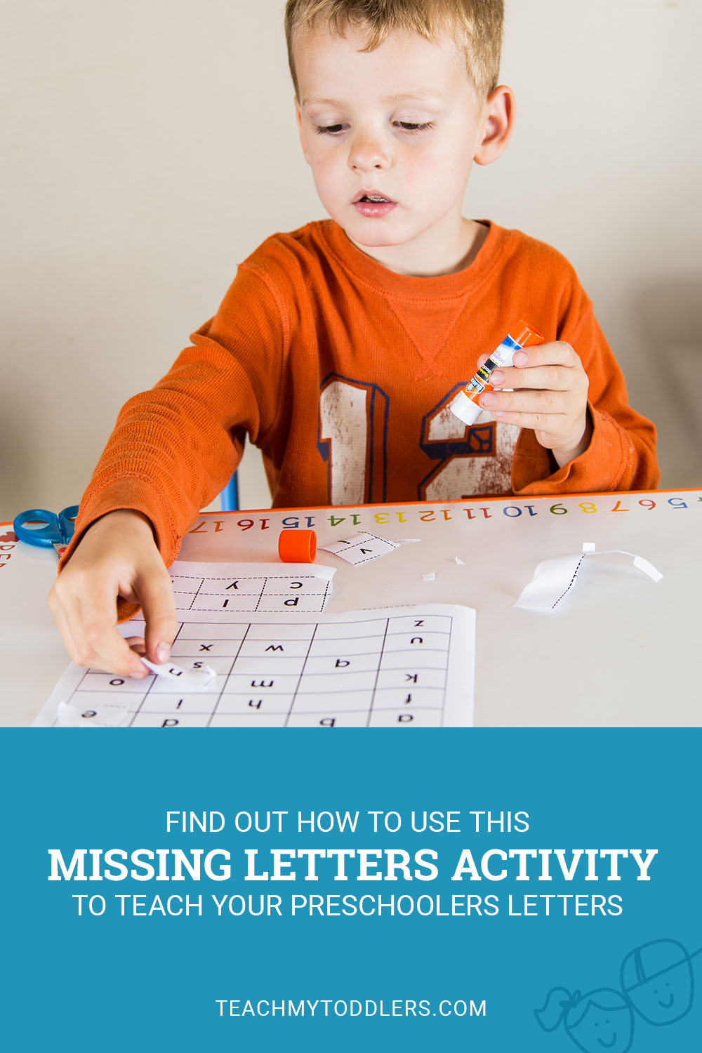 Find out how to use this missing letters activity to teach your toddlers letters