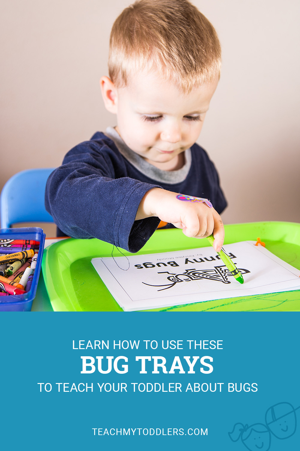 Learn how to use these bug trays to teach your toddlers about bugs
