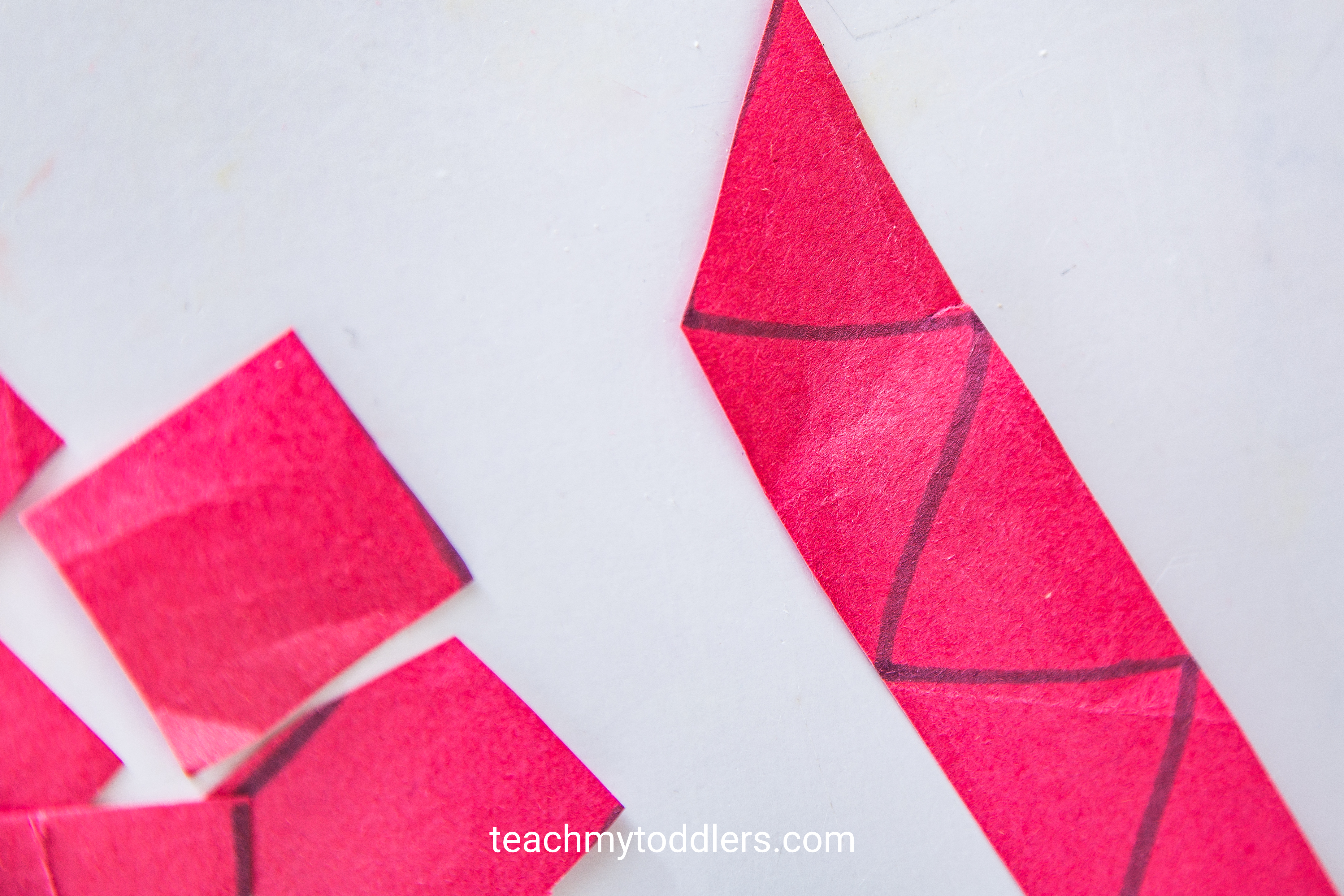 Learn how to use this cutting practice to teach toddlers shapes