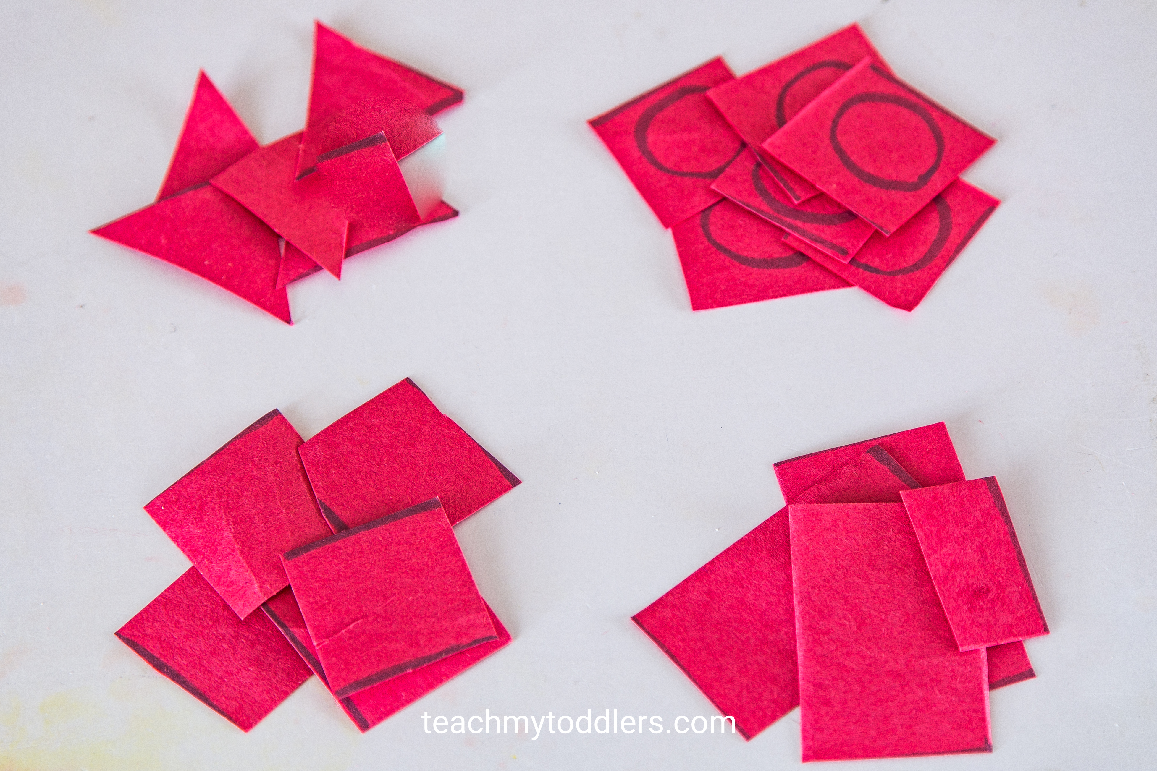 Learn how to use this cutting practice to teach your toddlers shapes