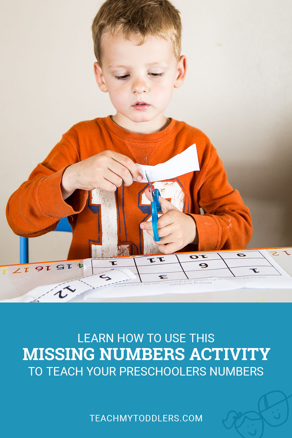 Learn how to use this missing numbers activity to teach preschoolers numbers