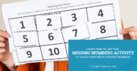 Learn how to use this missing numbers activity to teach your preschoolers numbers