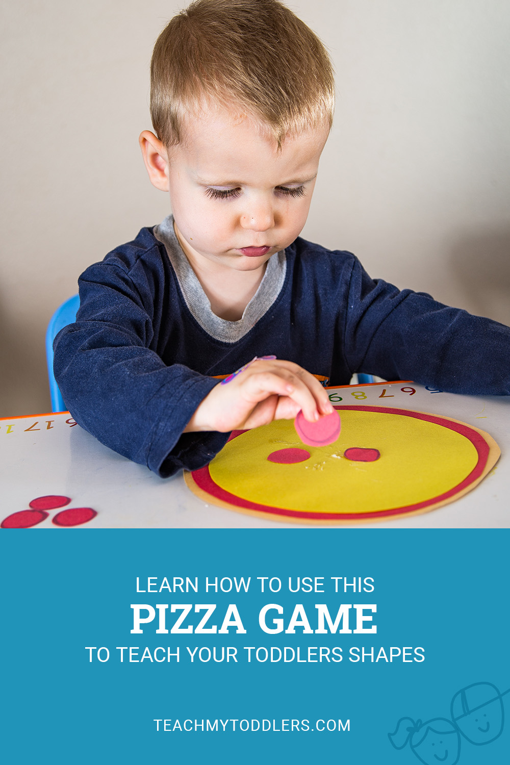 Learn how to use this pizza game to teach your toddlers shapes