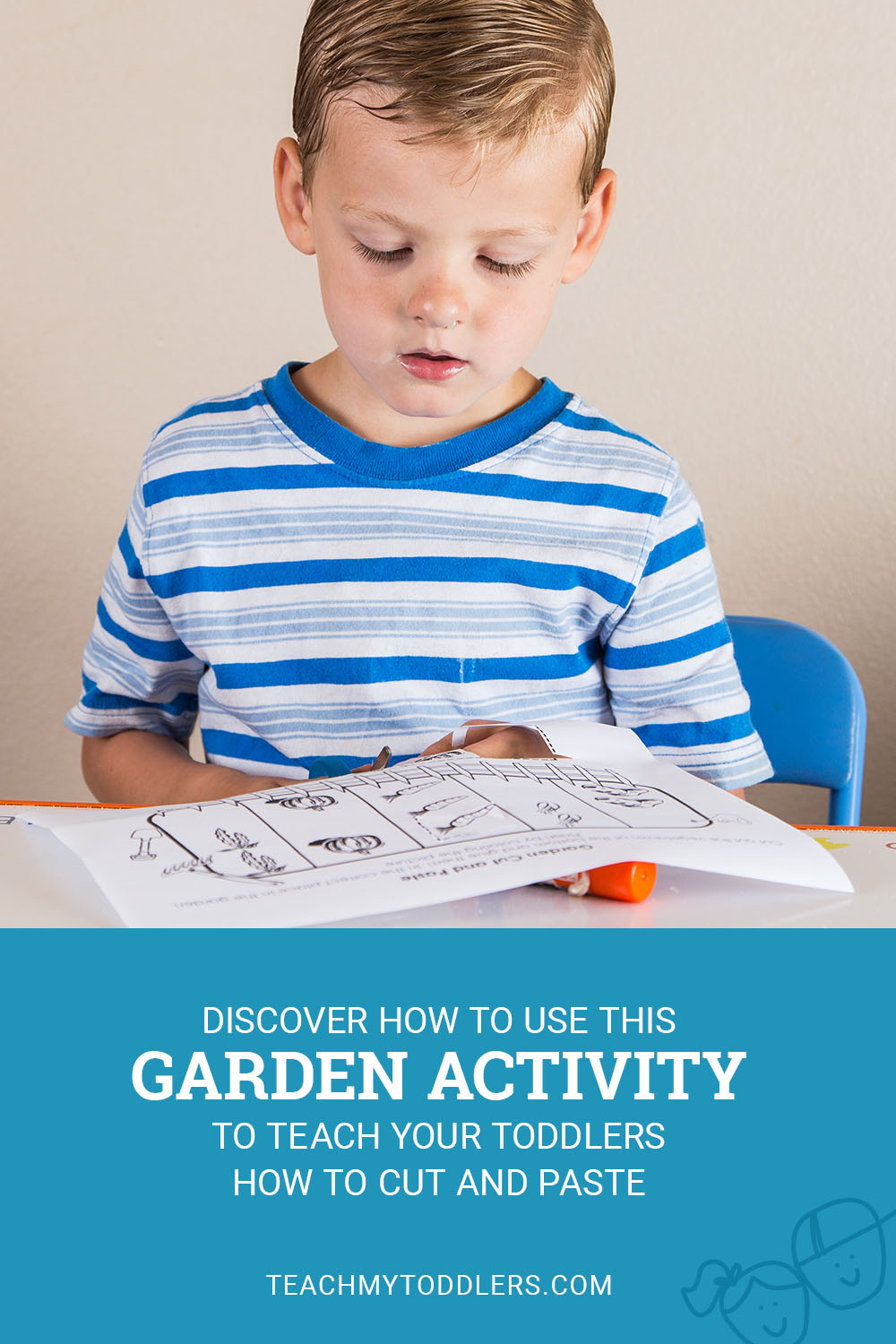 Discover how to use this garden activity to teach toddlers how to cut and paste