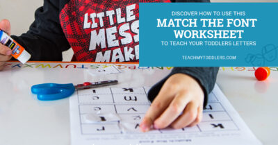 Discover how to use this match the font worksheet to teach toddlers letters