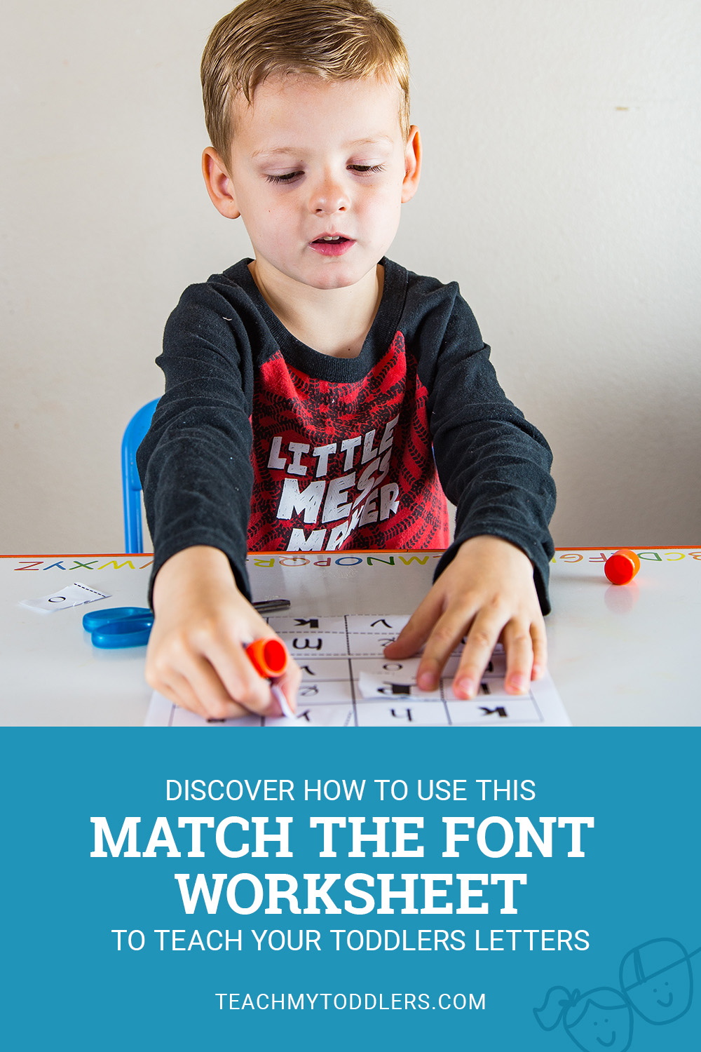 Discover how to use this match the font worksheet to teach your toddlers letters