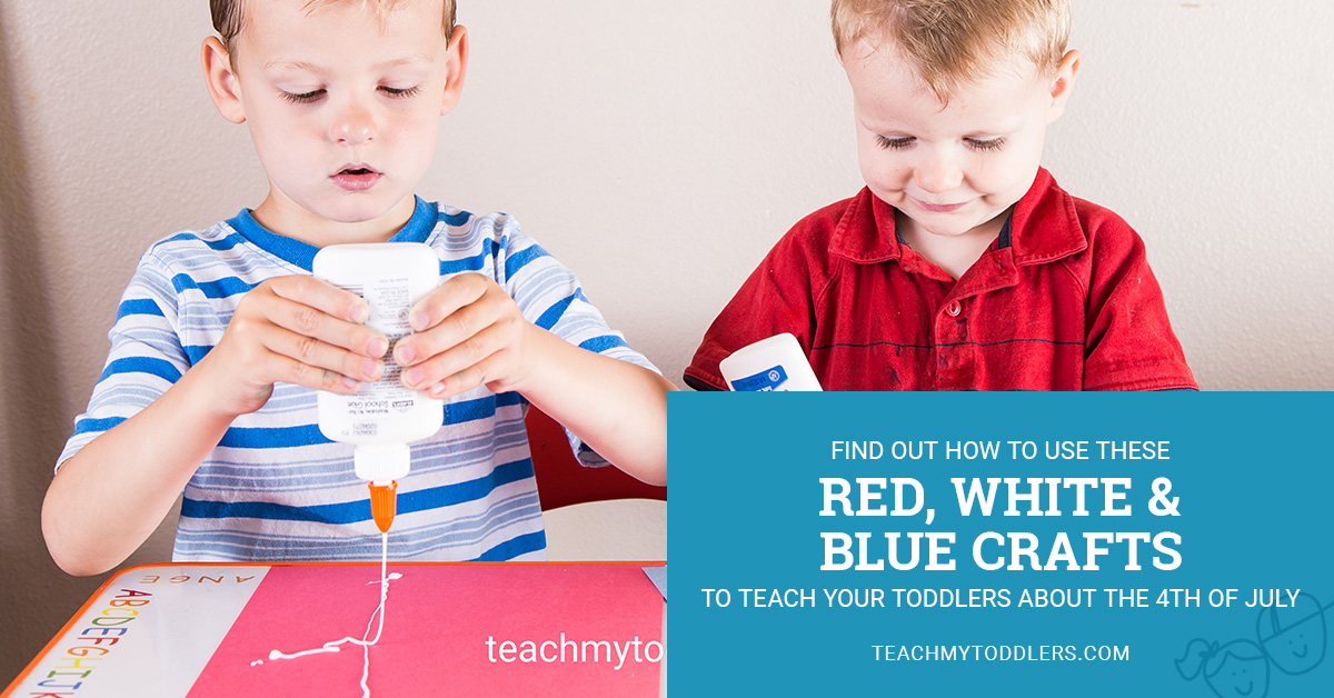 Find out how to use these red, white and blue crafts to teach your toddlers about the 4th of july
