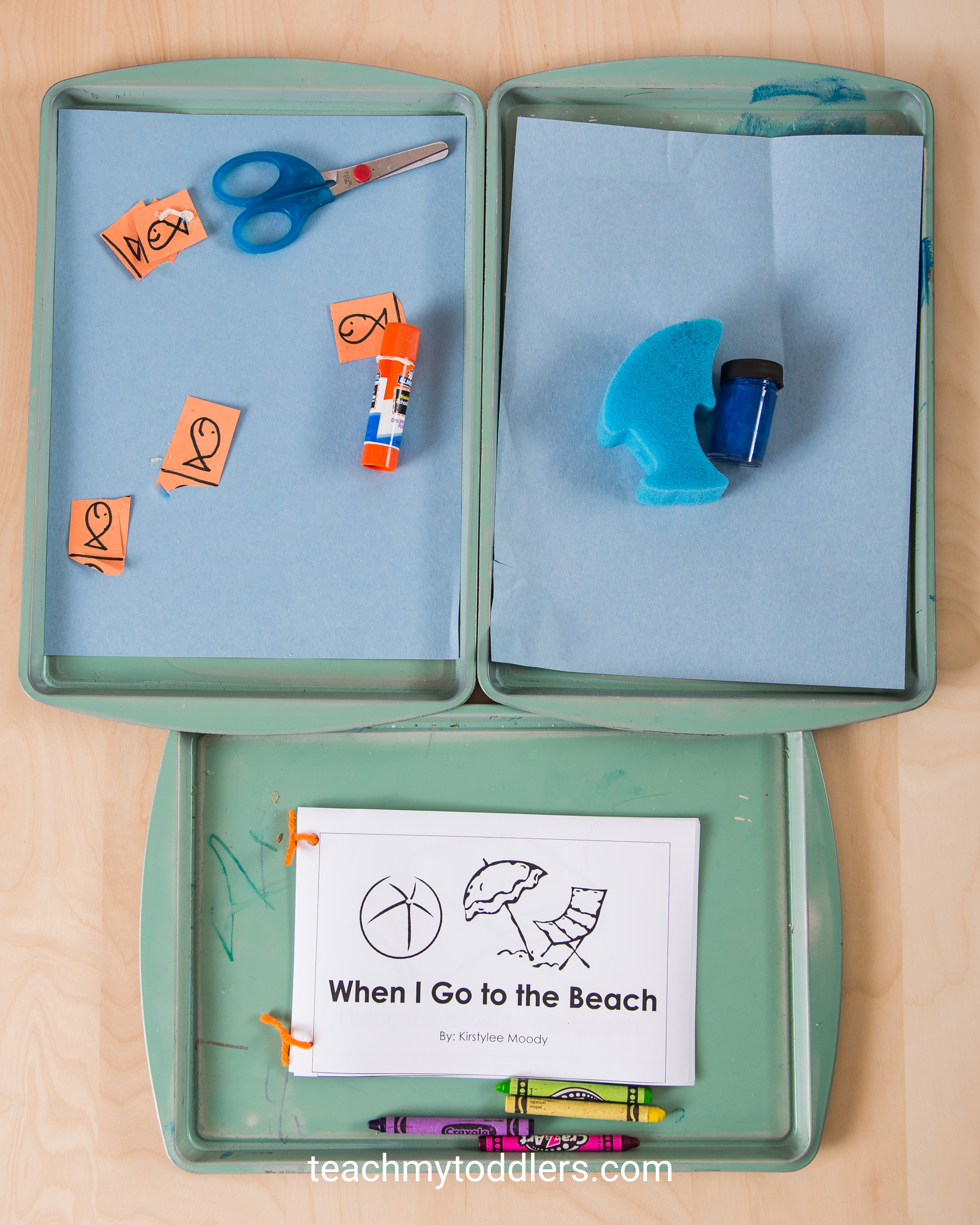Use these great beach activities to teach your toddlers about the beach