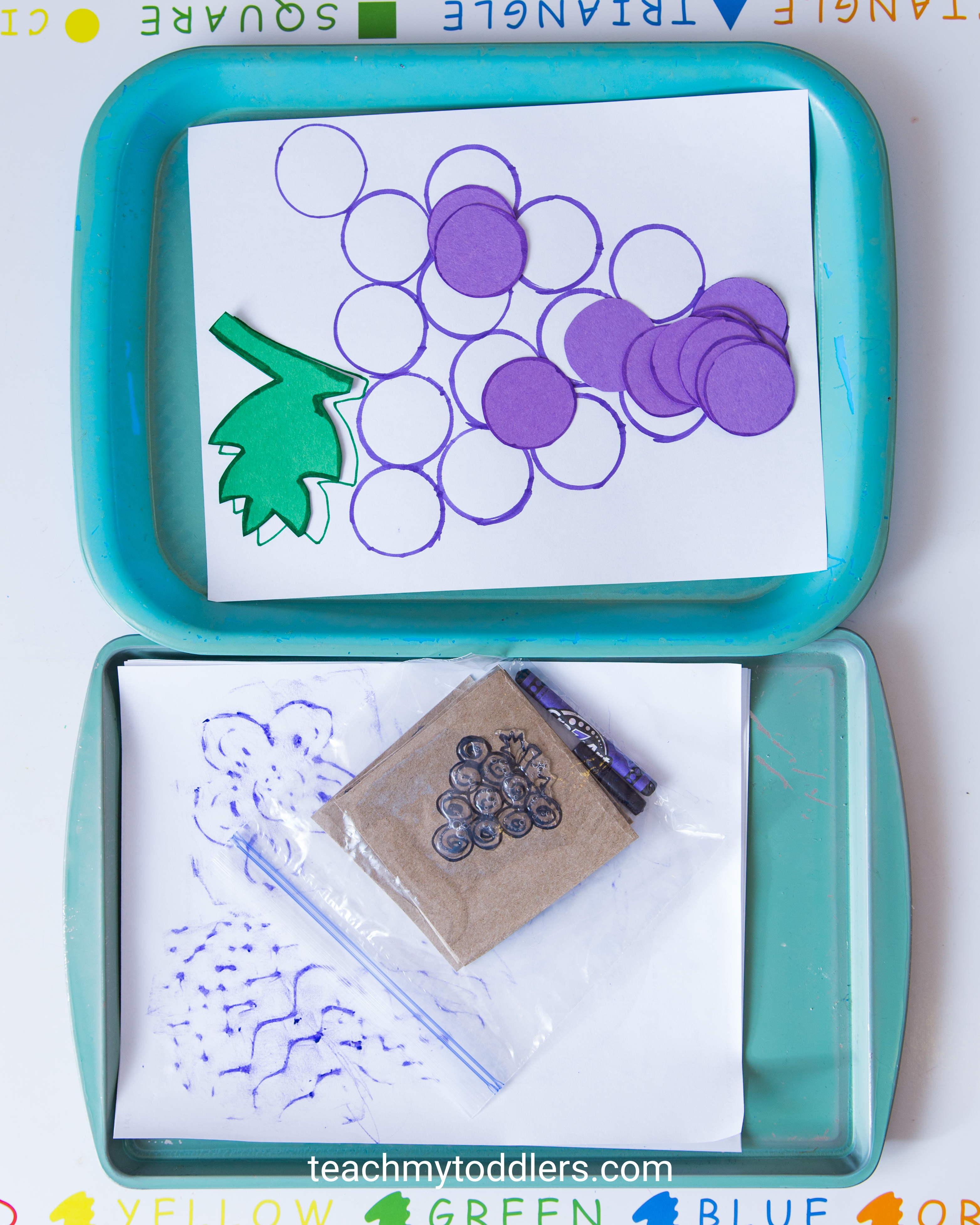 A fun activity to teach your toddler the color purple