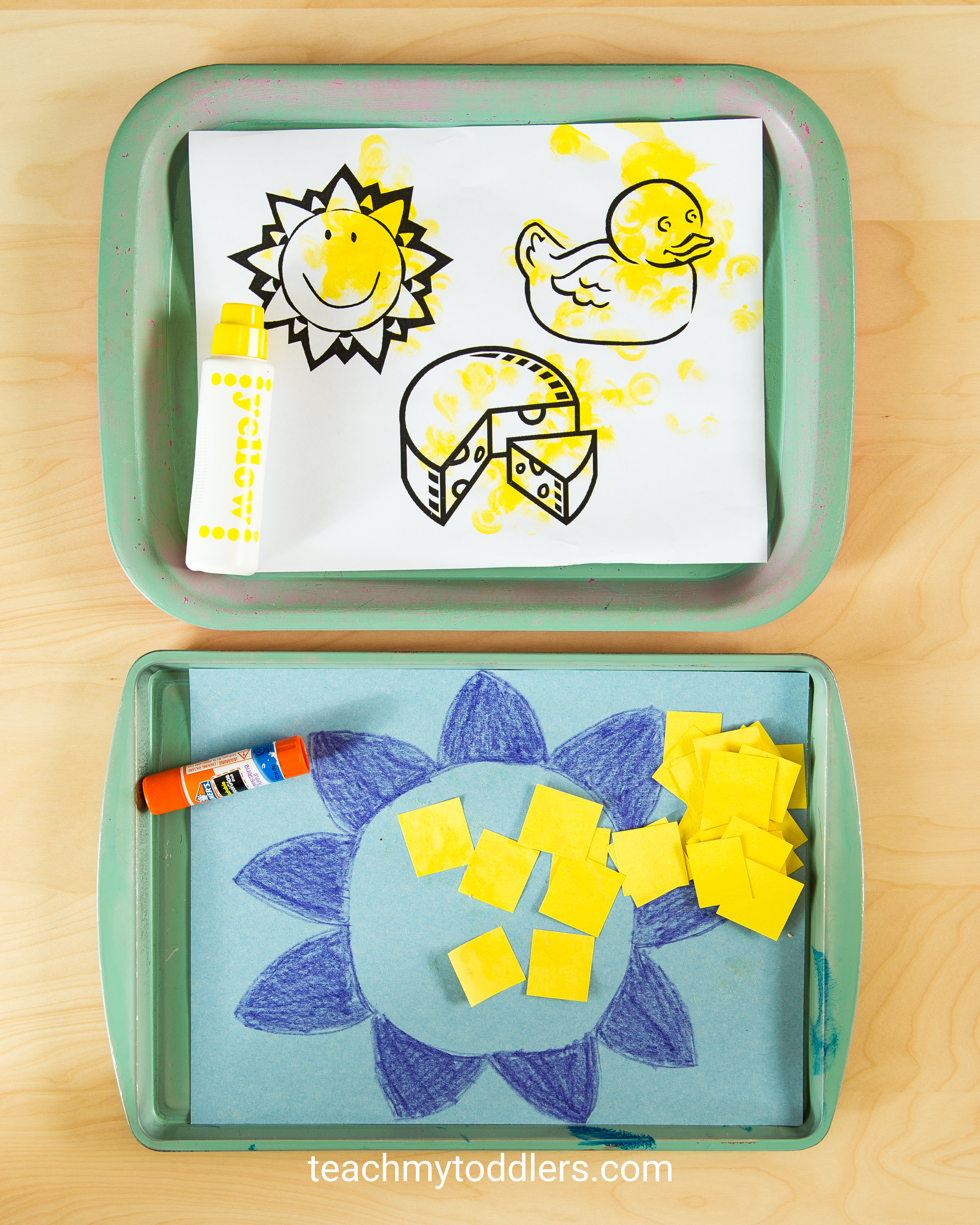 A fun activity to teach your toddler the color yellow