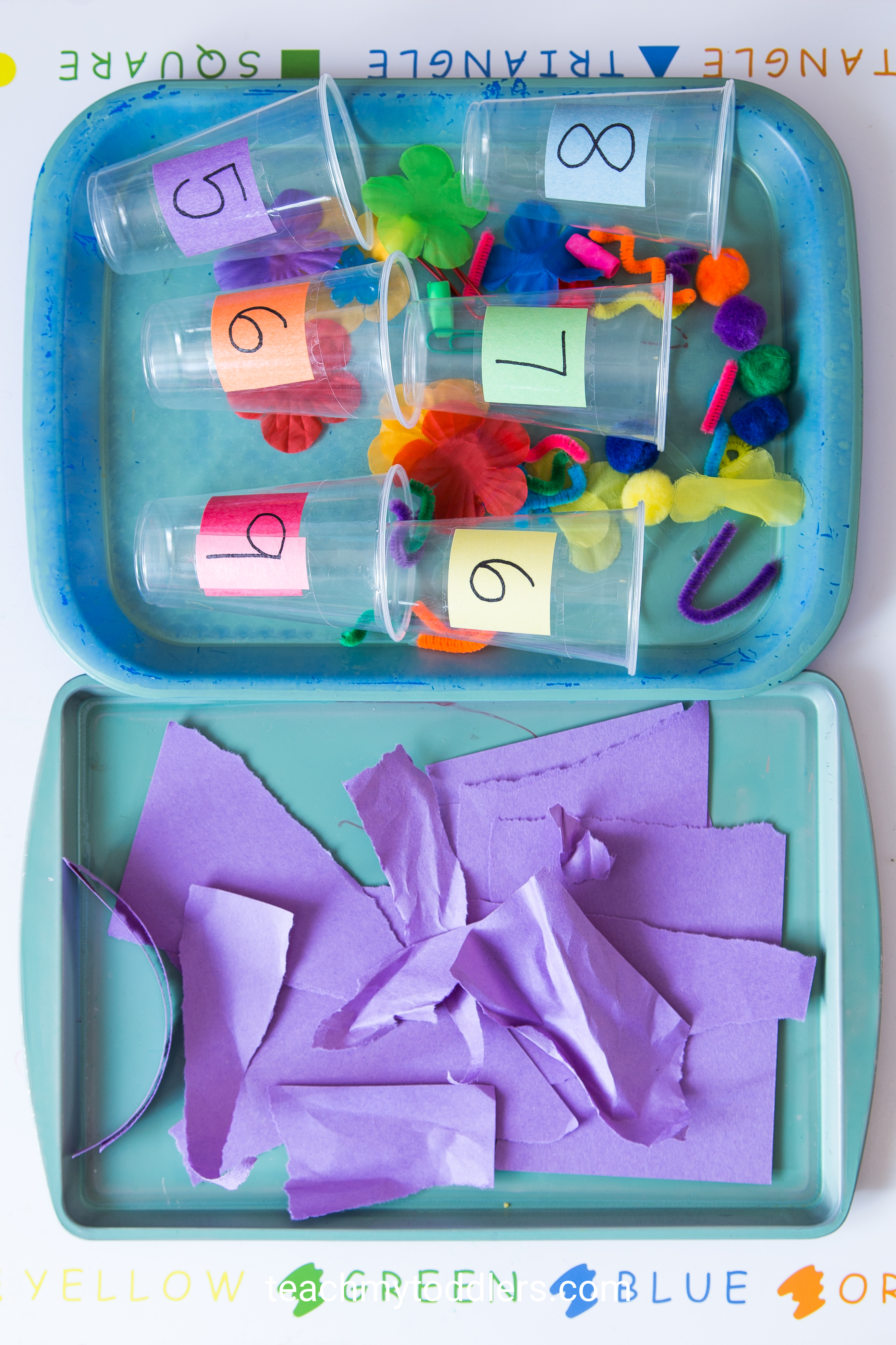 A fun game to teach your toddler the color purple