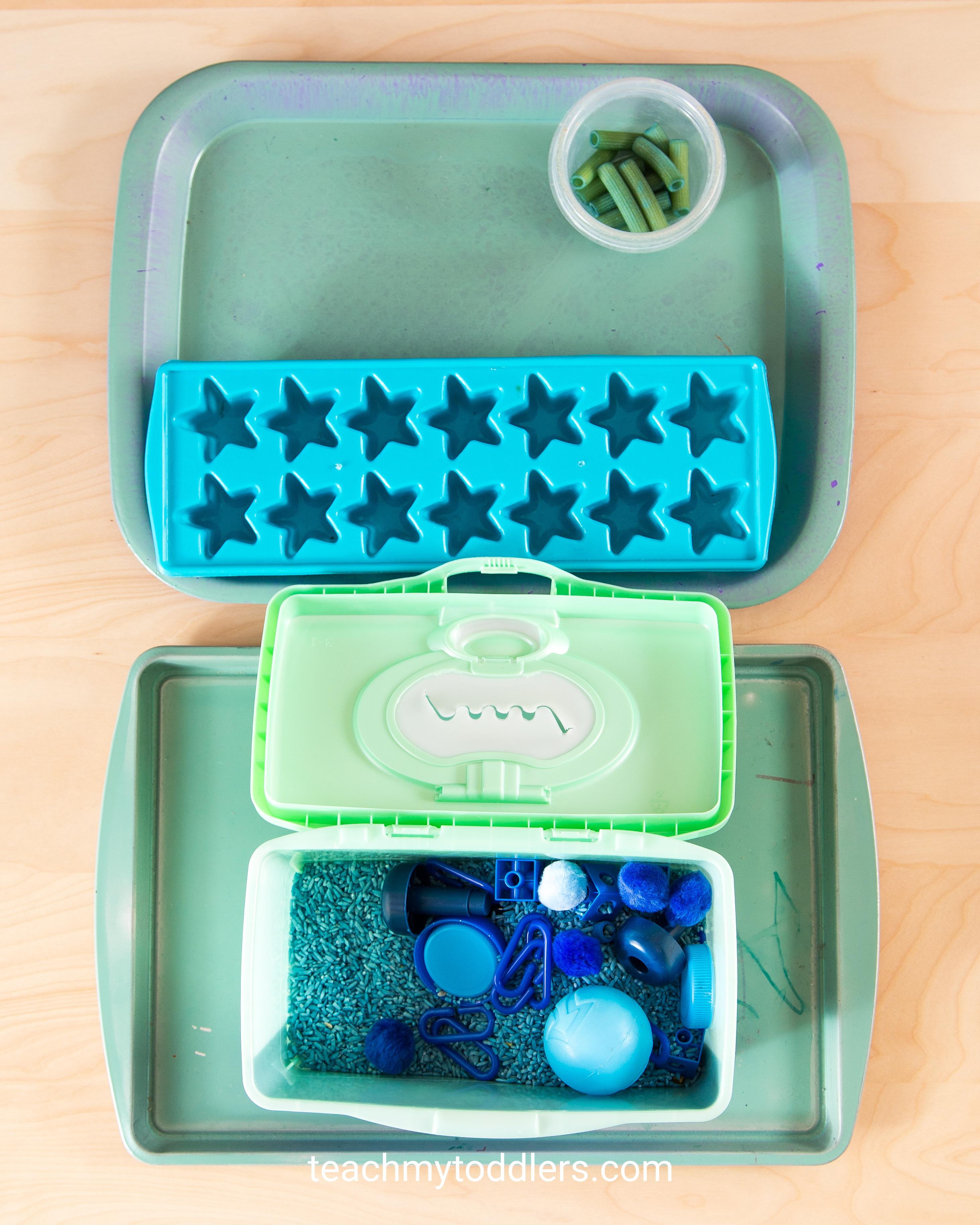 A fun idea to teach your toddler the color blue