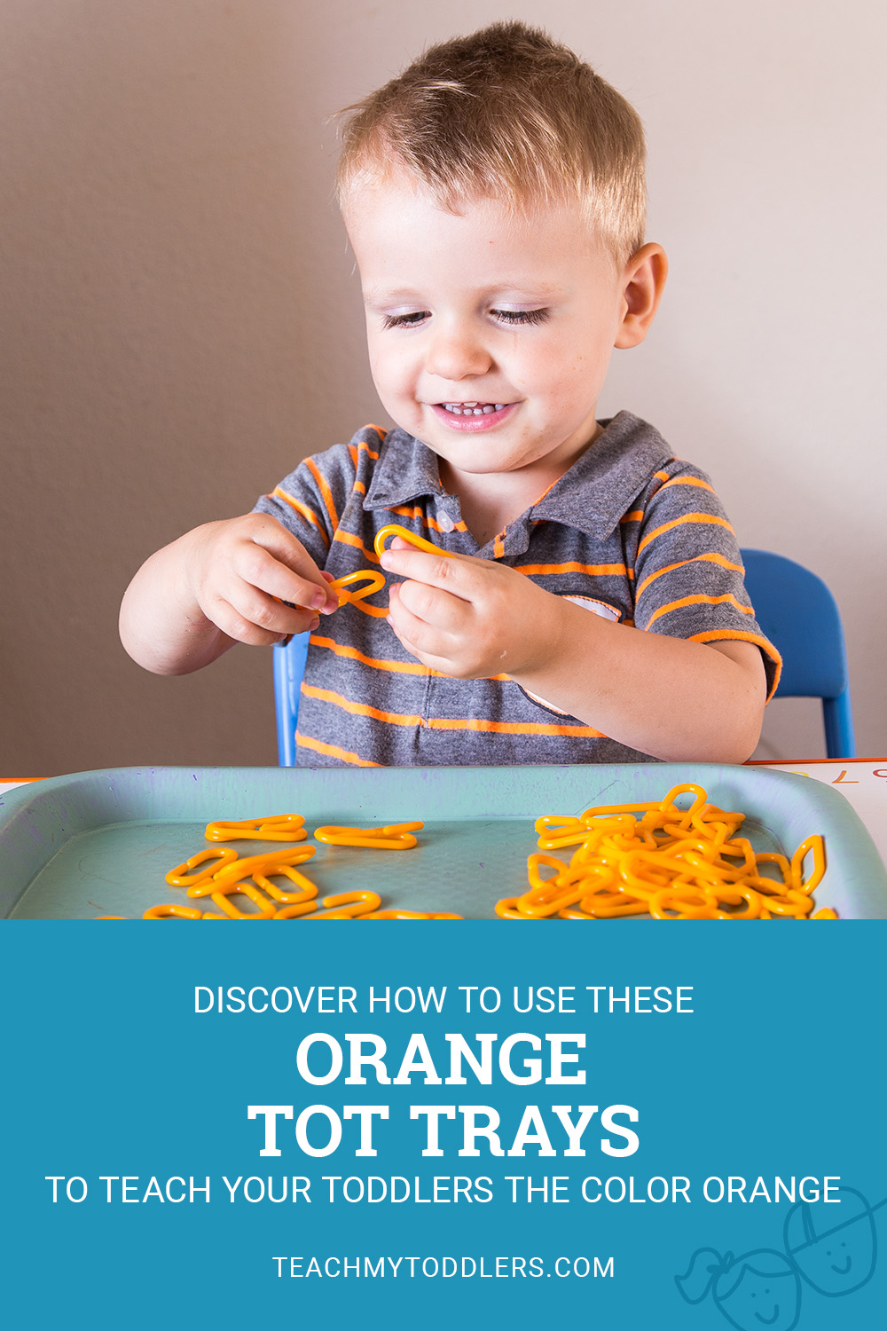 Discover how to use these orange tot trays to teach your toddlers the color orange