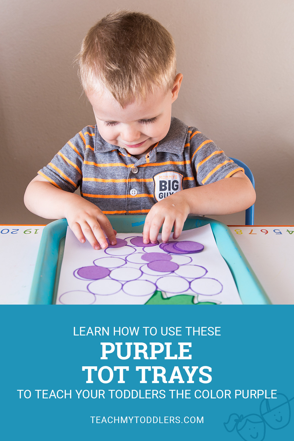 Learn how to use these purple tot trays to teachtoddlers the color purple