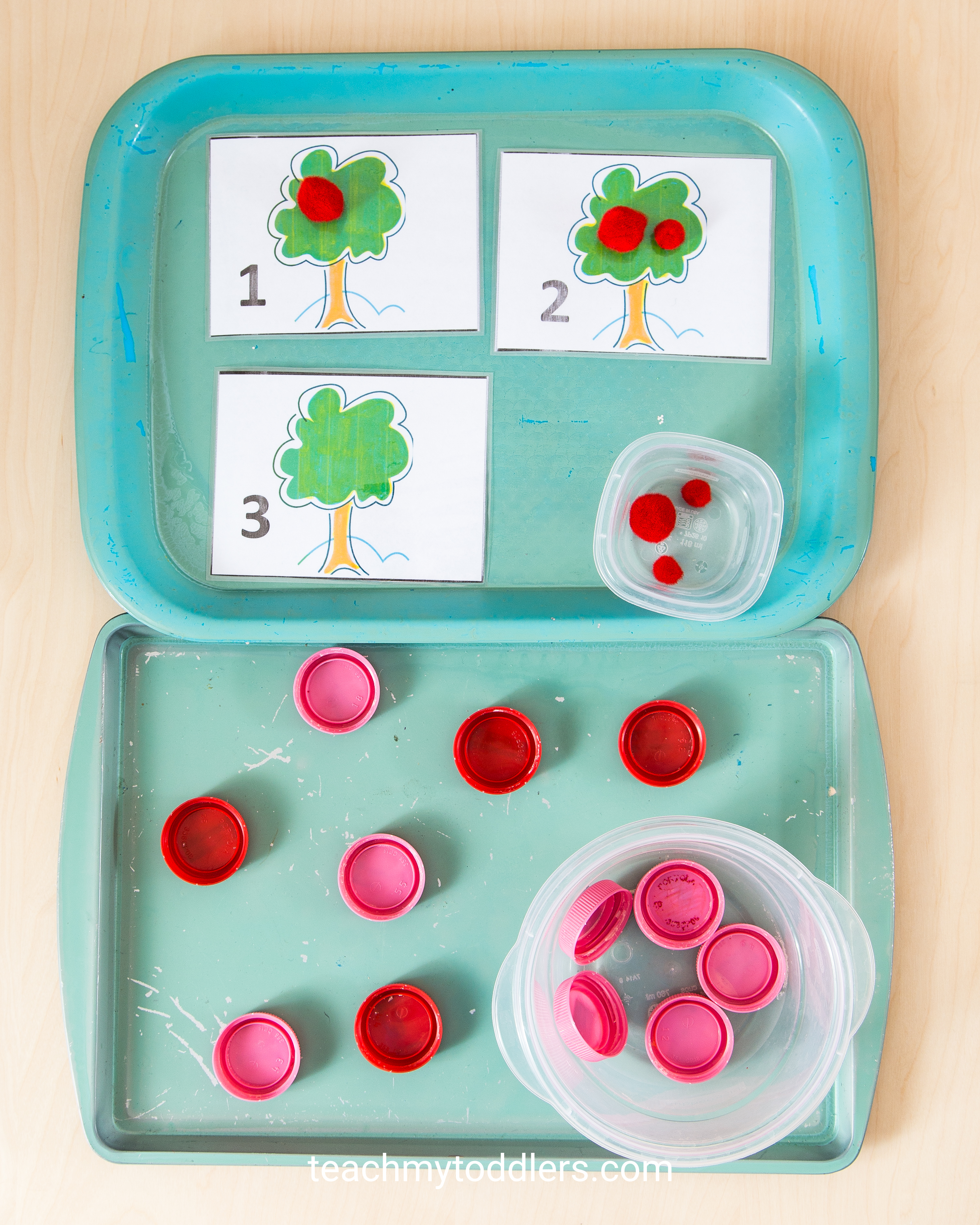 A fun activity to teach your toddler the color red