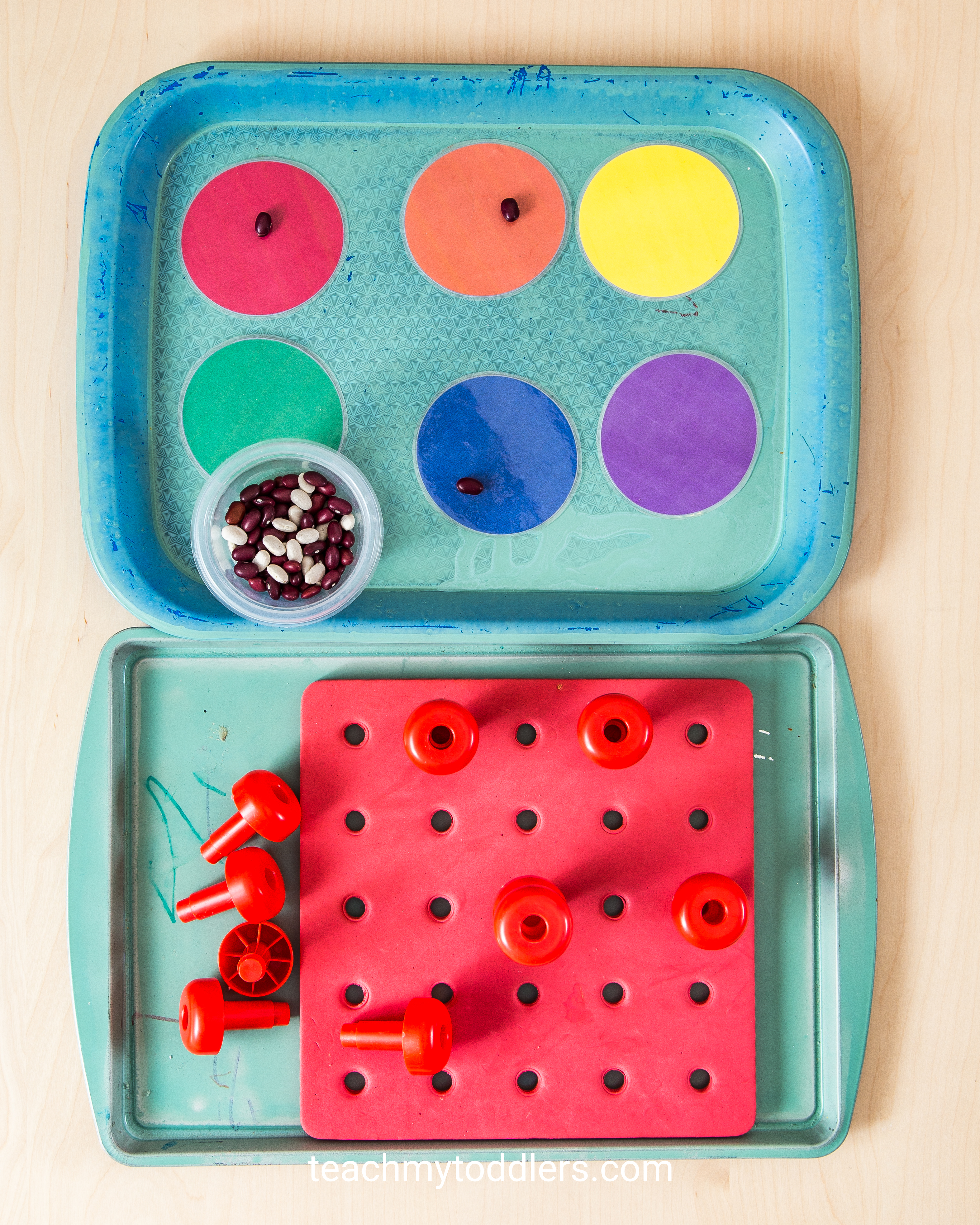 A fun idea to teach your toddler the color red