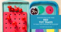Discover how to use these red color trays to teach toddlers the color red.jpg