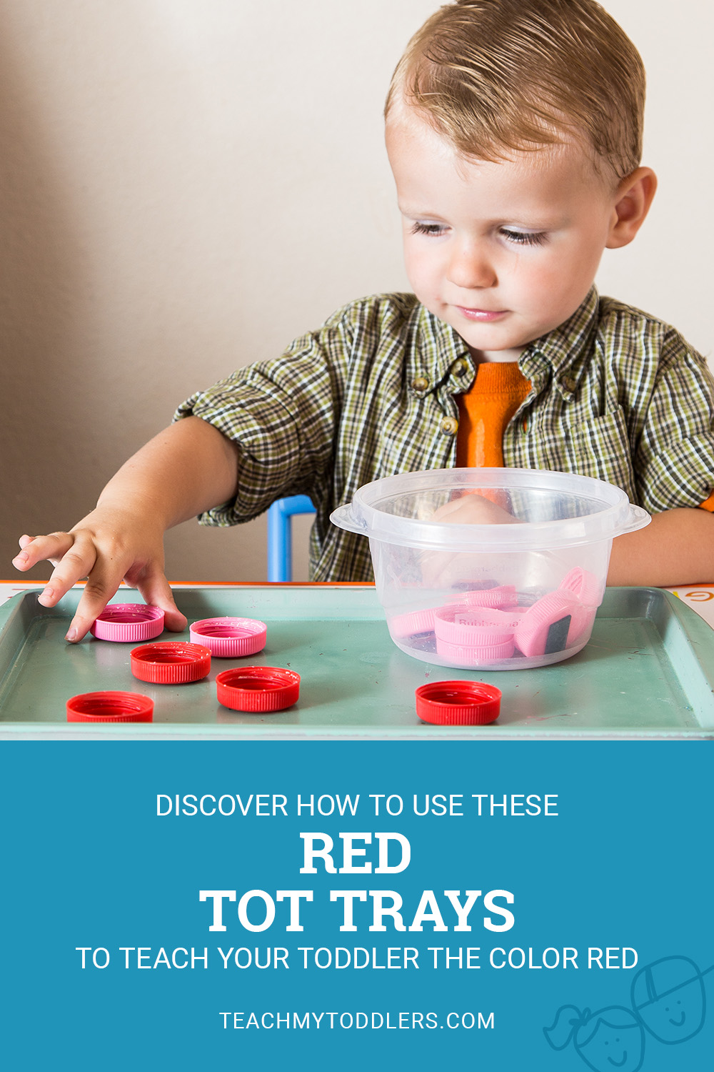Discover how to use these red color trays to teach your toddlers the color red