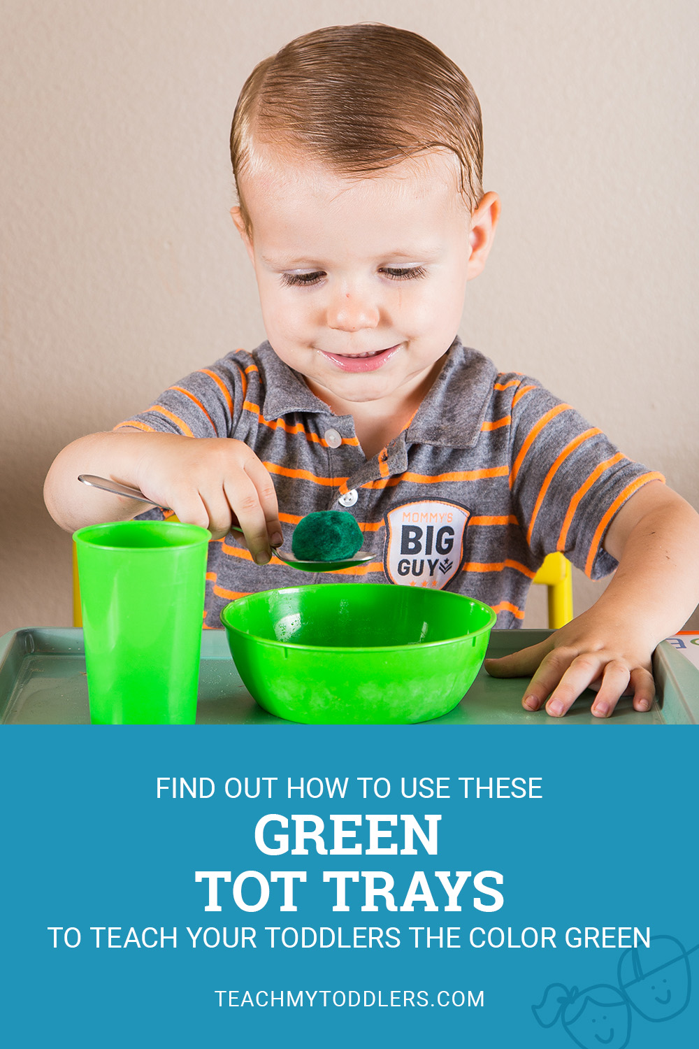 Find out how to use these green tot trays to teach your toddlers the color green