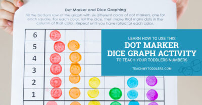 Learn how to use this dot marker dice graph activity to teach your toddlers numbers