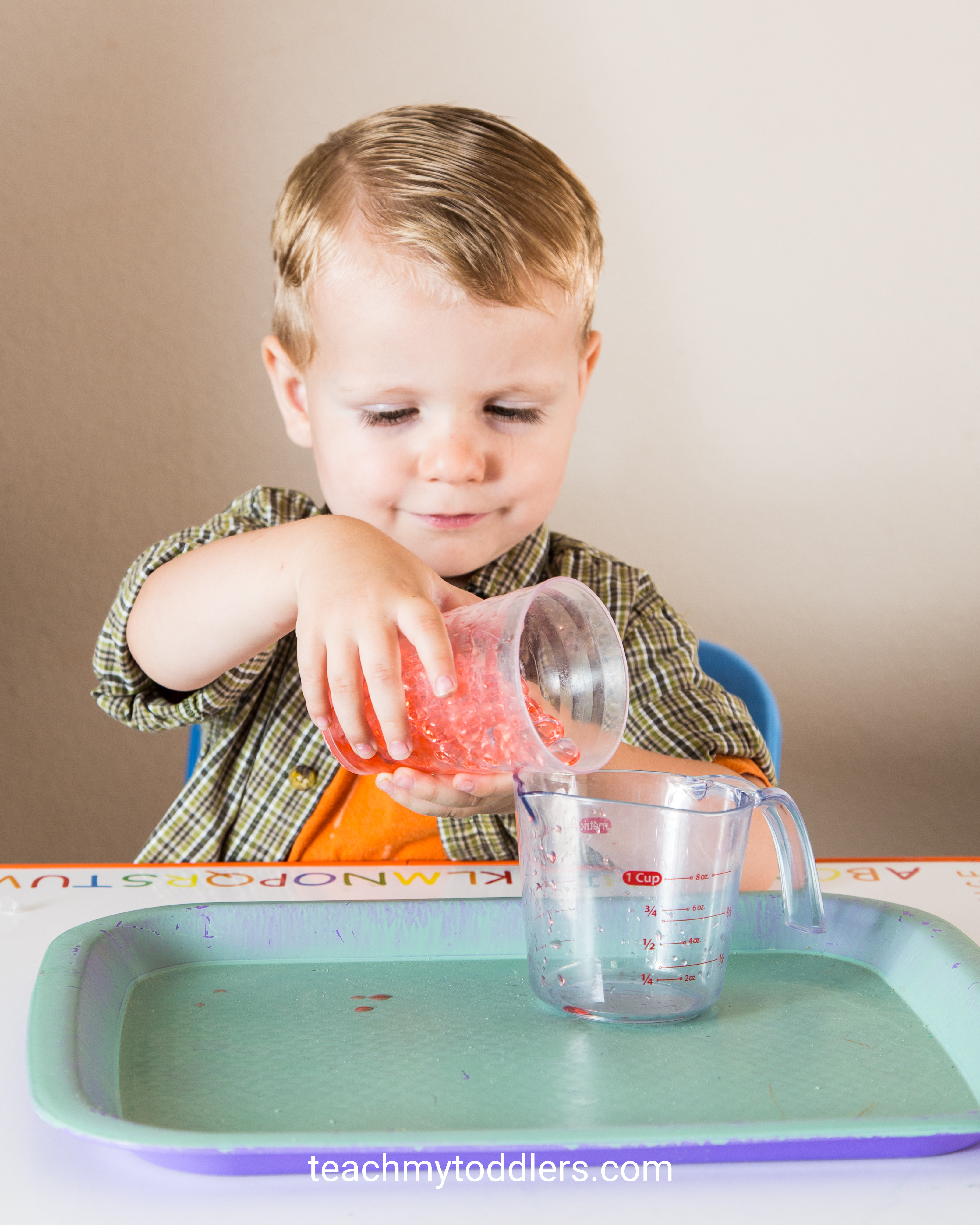 Teach your toddlers the color red with these tot tray ideas