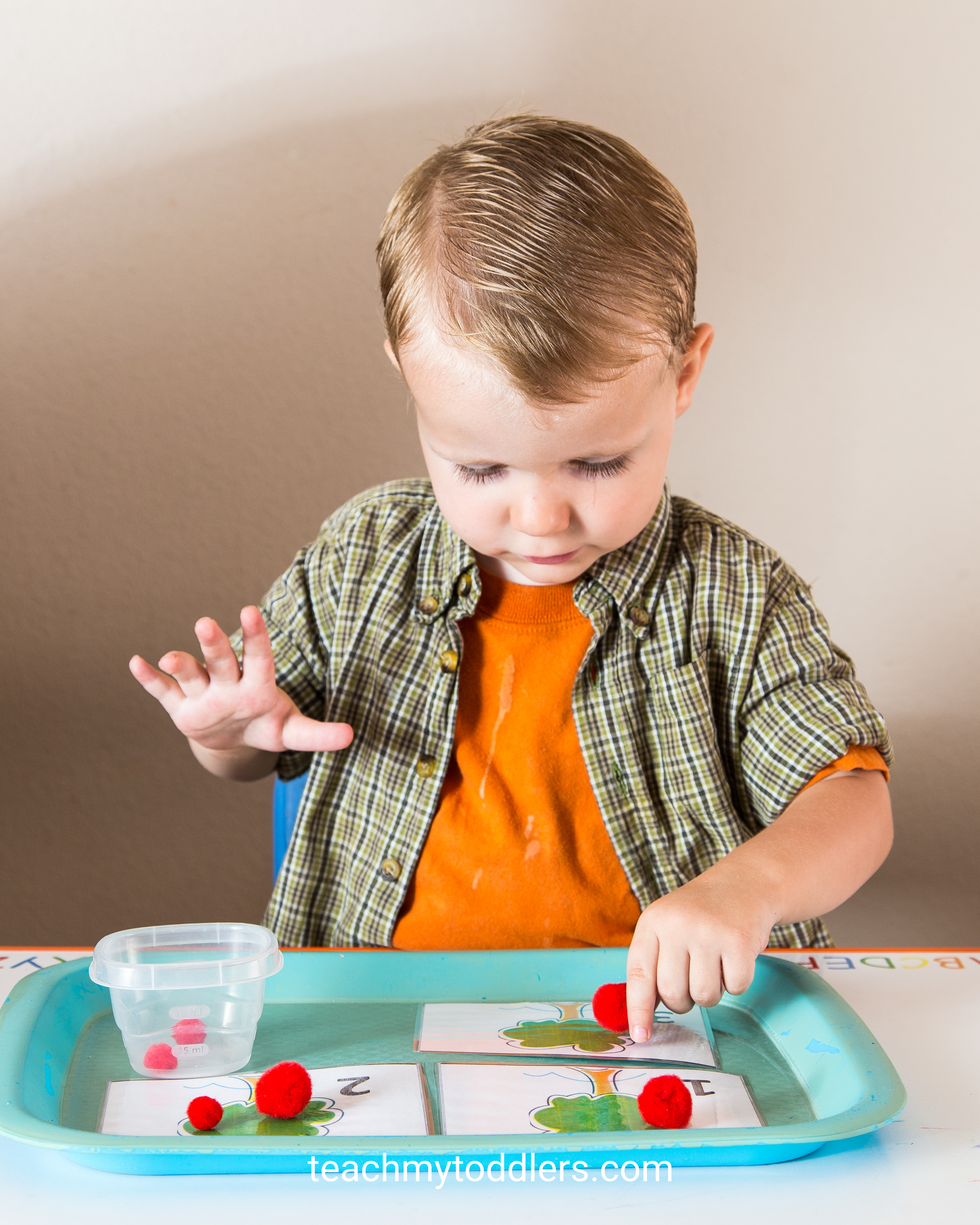 These red tot trays will help you teach your toddlers the color red