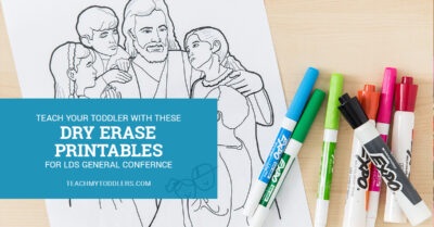 A printable laminated image of Jesus Christ with children for LDS General Conference with dry erase markers