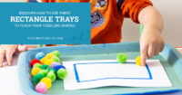 Discover how to use these rectangle trays to teach toddlers shapes