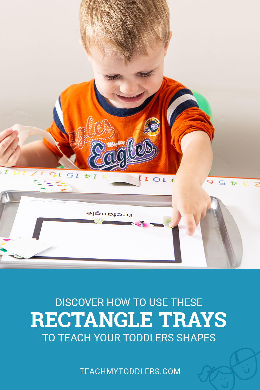 Discover how to use these rectangle trays to teach your toddlers shapes