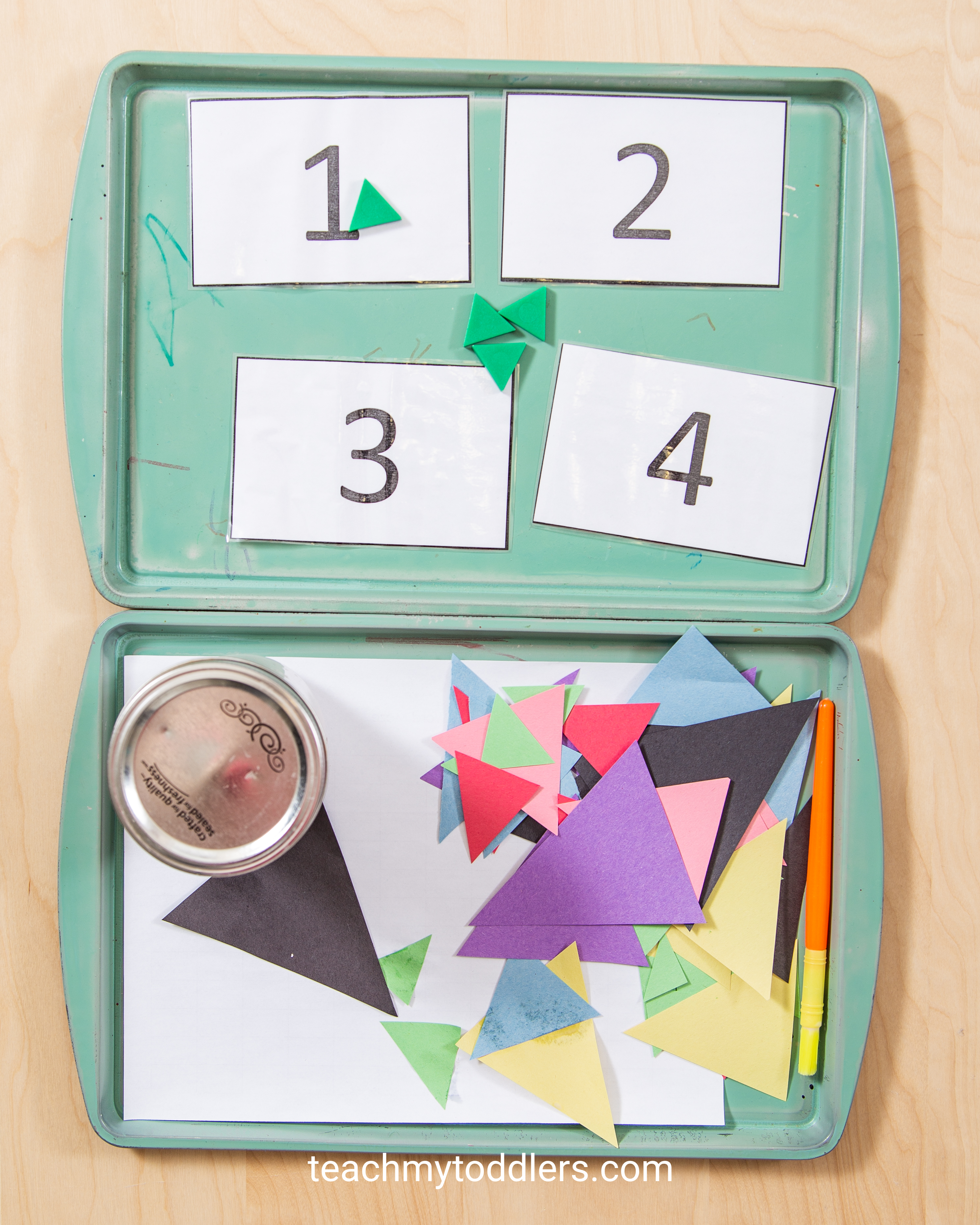 Discover how to use these triangle activities to teach your toddlers shapes