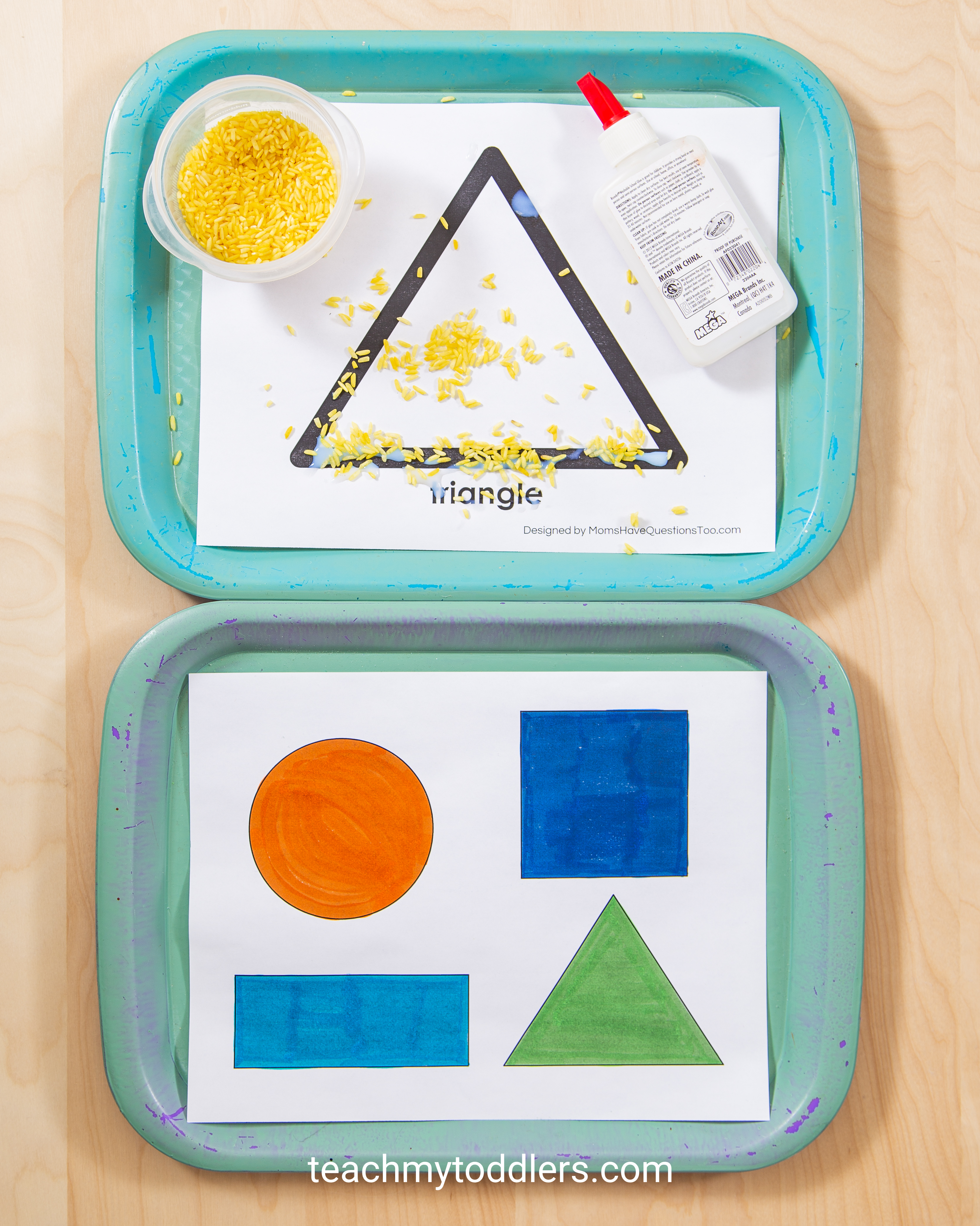 Find out how to use these triangle activities to teach your toddlers shapes