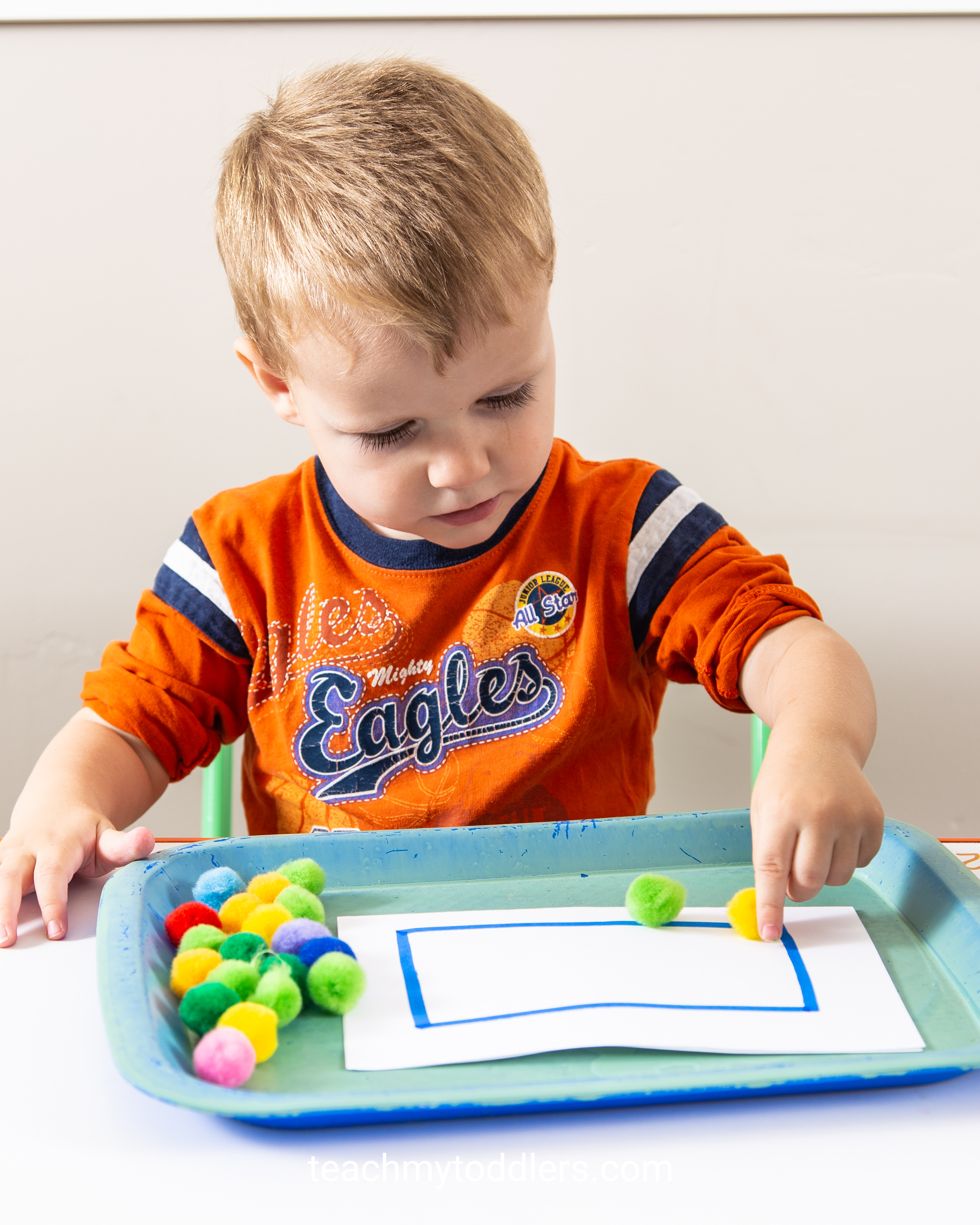 Learn how to use these rectangle trays to teach toddlers shapes