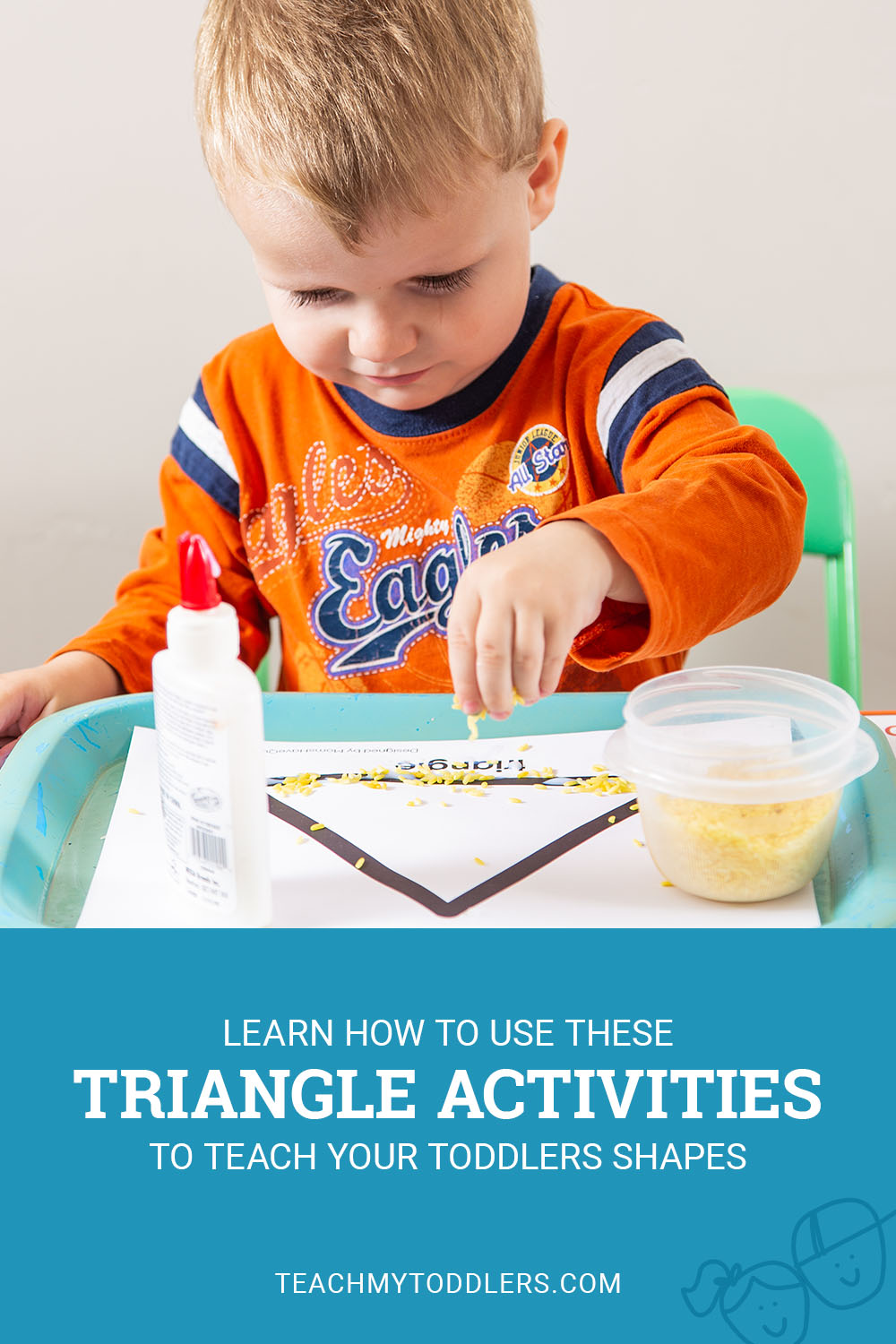 Learn how to use these triangle activities to teach your toddlers shapes