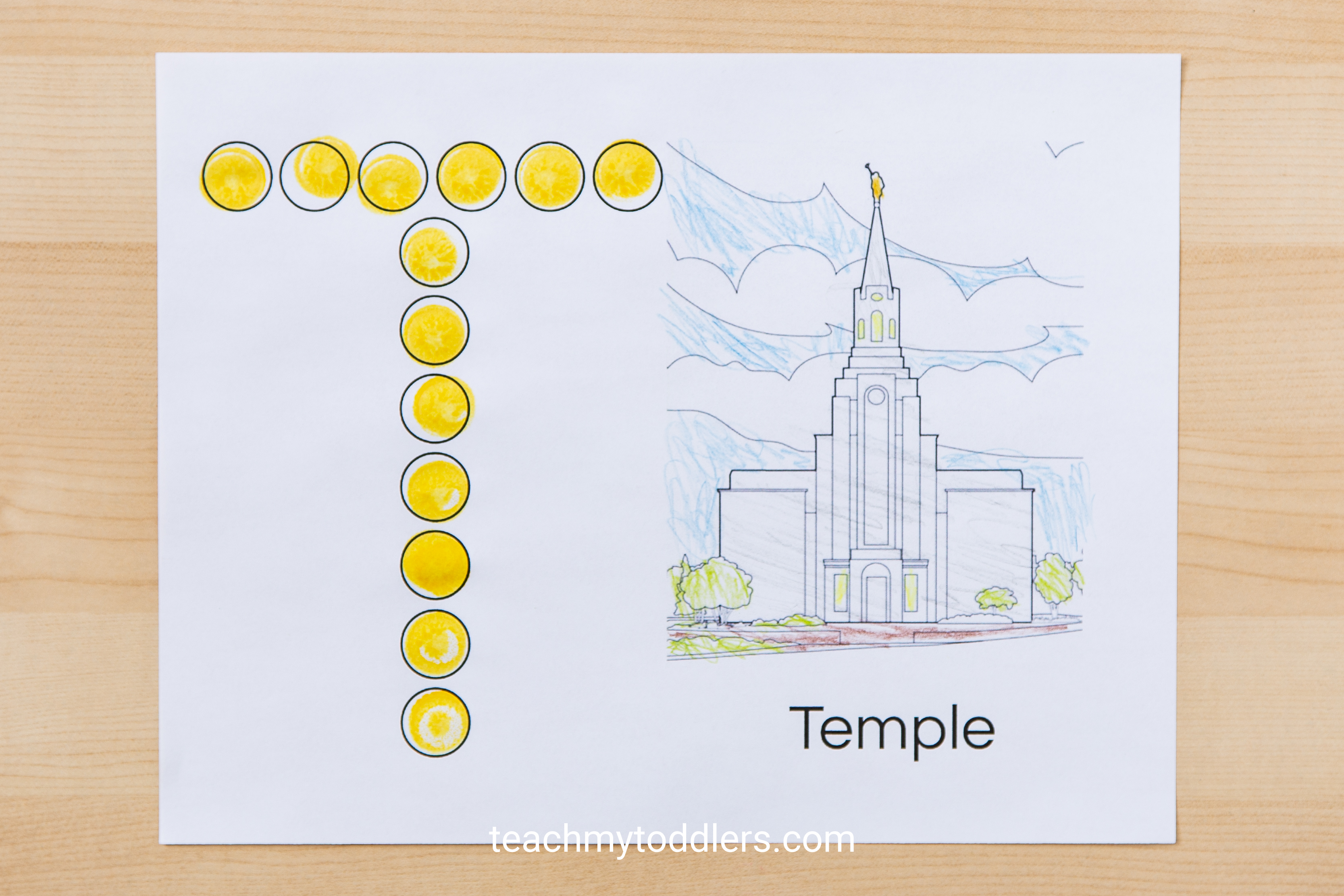 Print out these exciting free do a dot pages for your toddlers during general conference