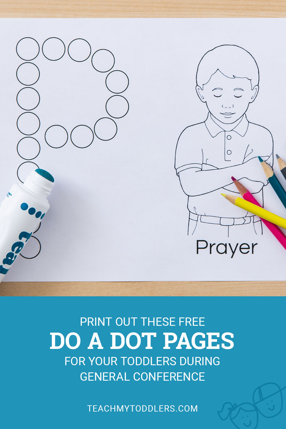Print out these fun free do a dot pages for your toddlers during general conference