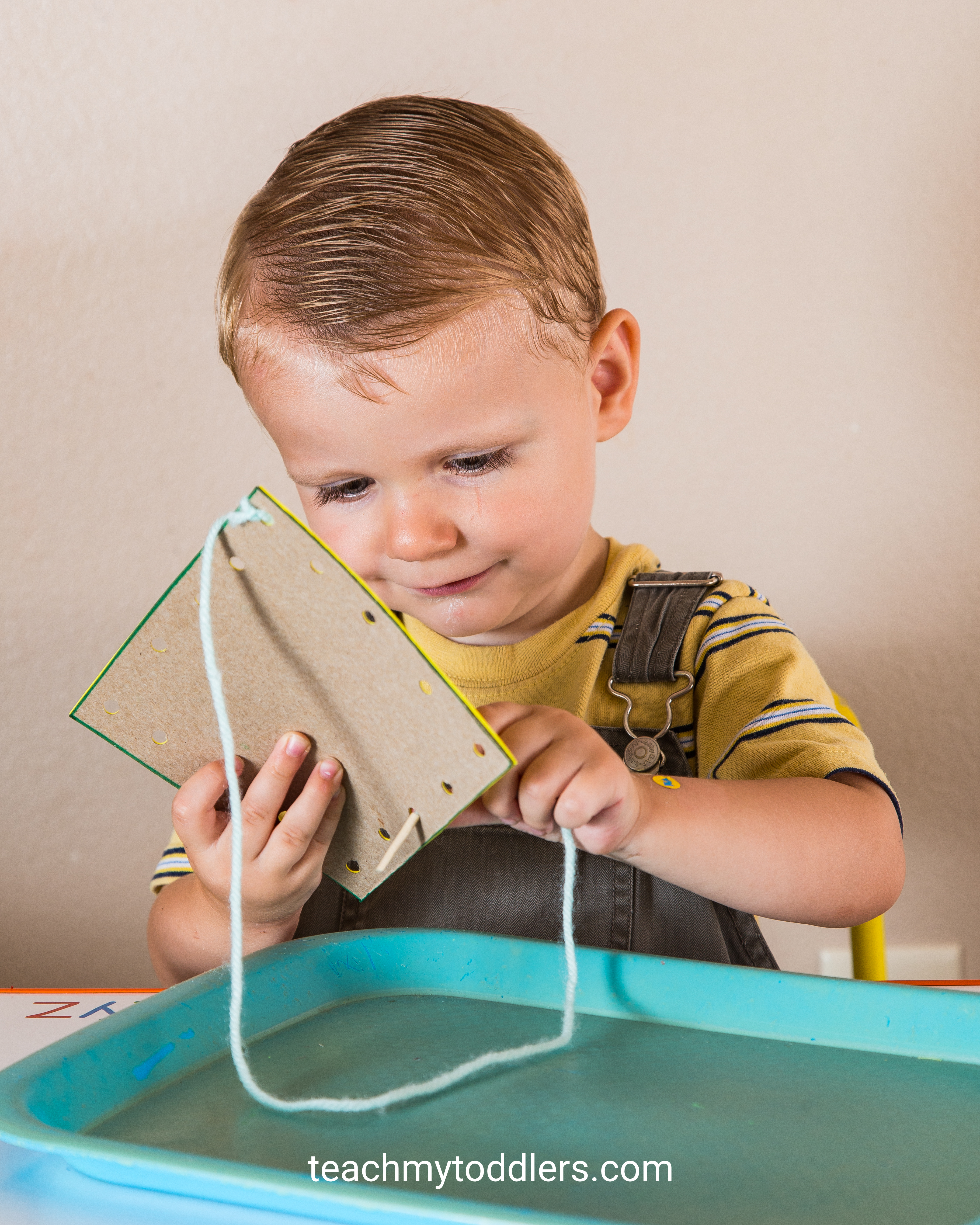 These square trays are exciting to use to teach toddlers shapes