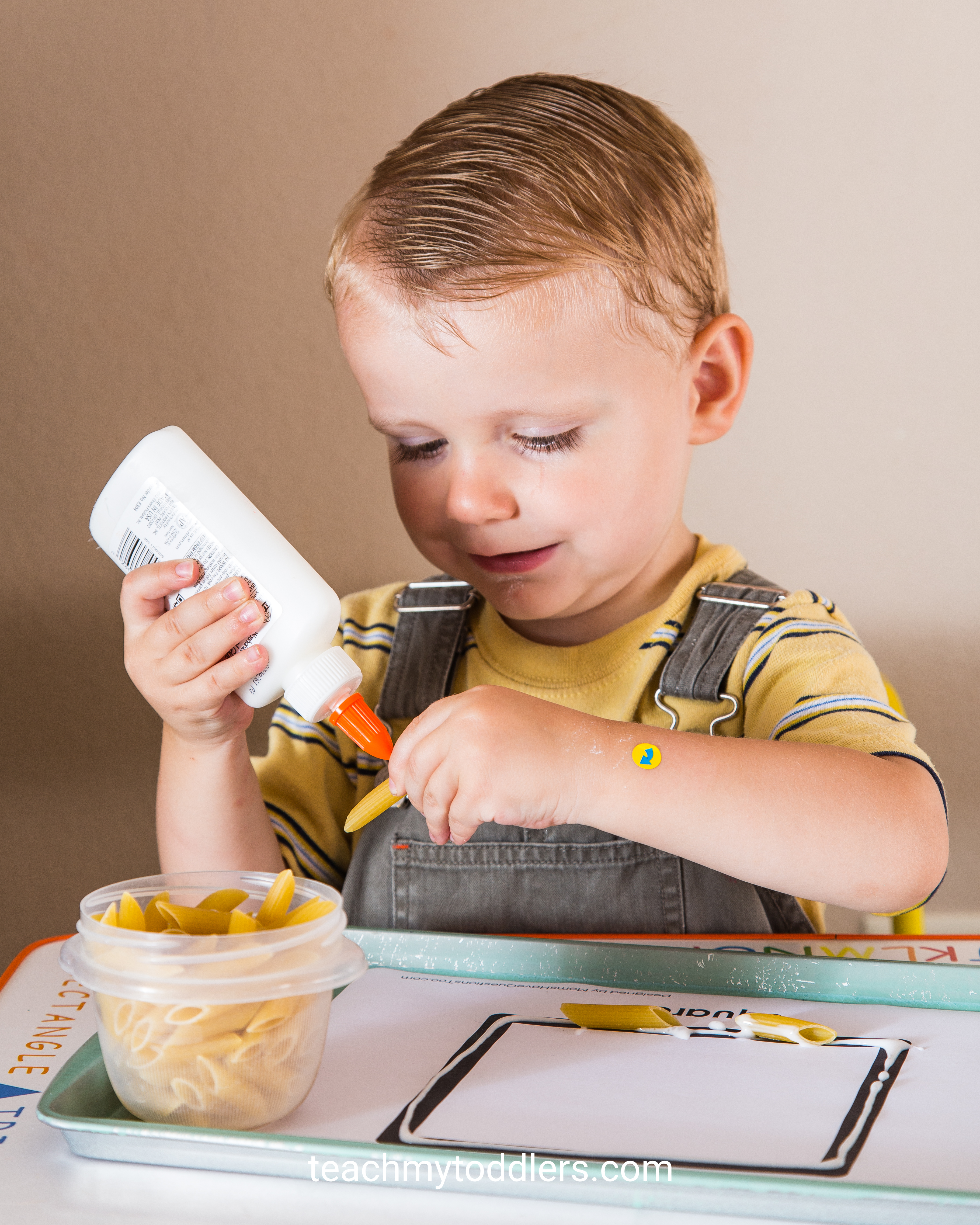 These square trays are exciting to use to teach your toddlers shapes
