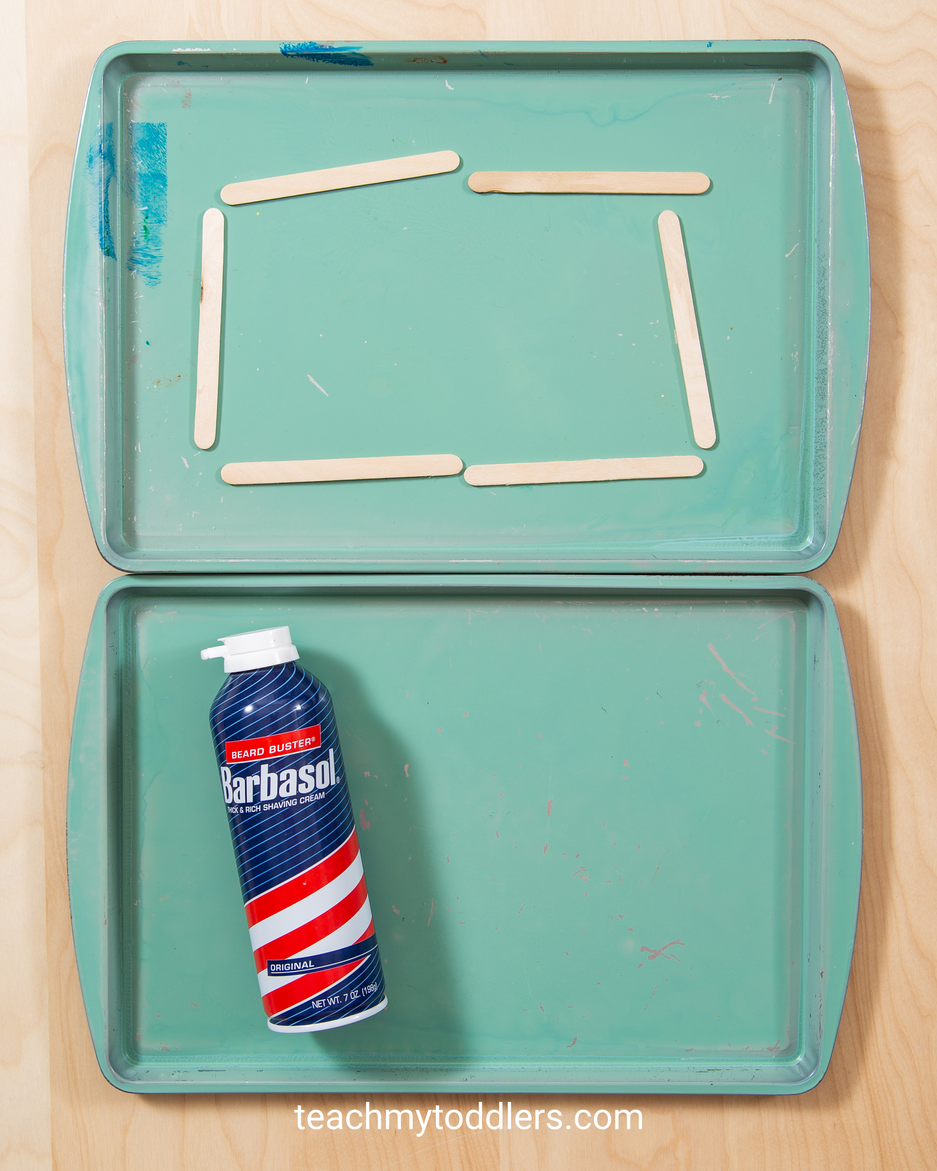 Use these awesome rectangle trays activities to teach your toddlers shapes