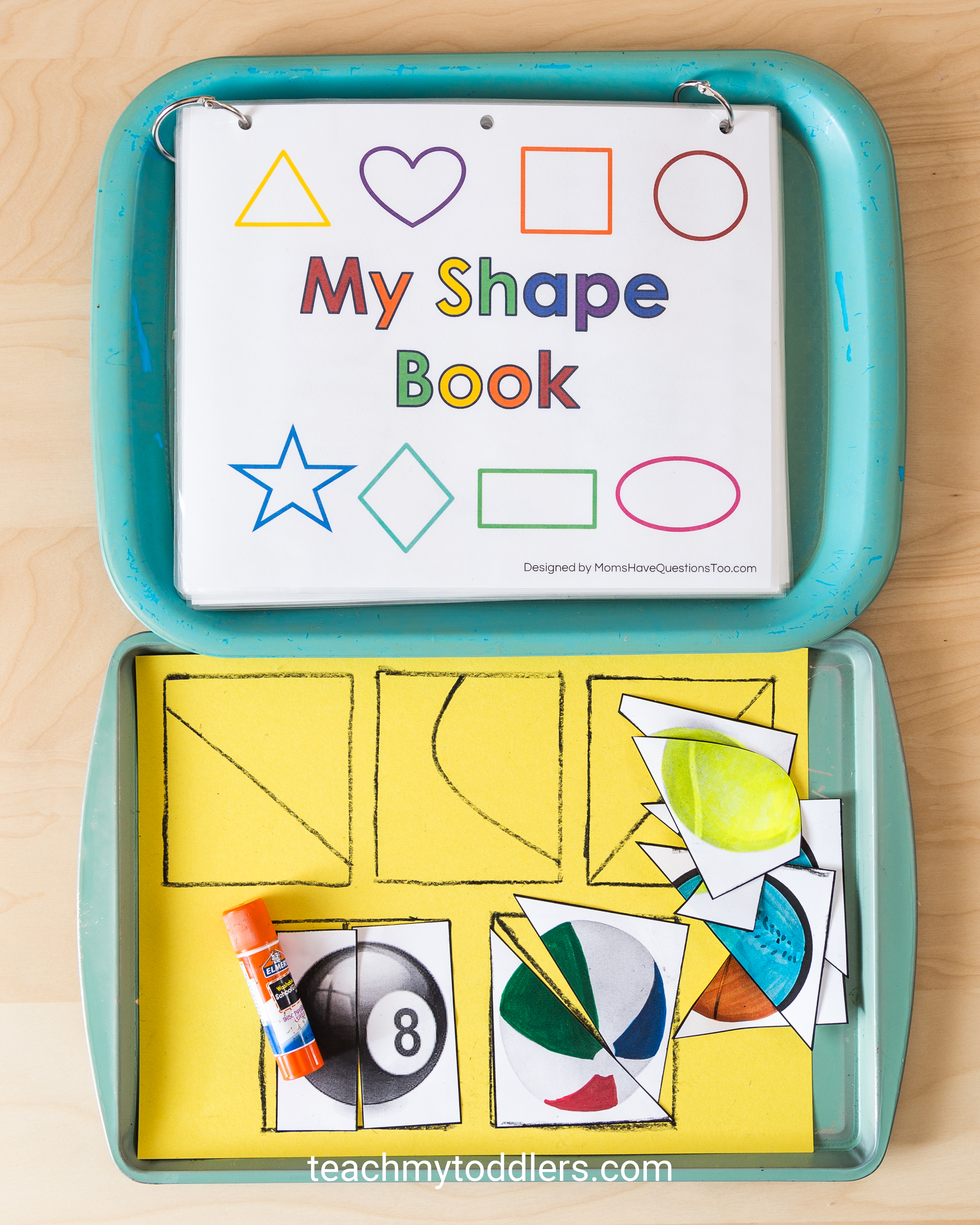 Use these fun circle toddler trays to teach your toddlers shapes