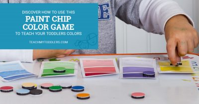 Discover how to use this paint chip color match game to teach toddlers colors